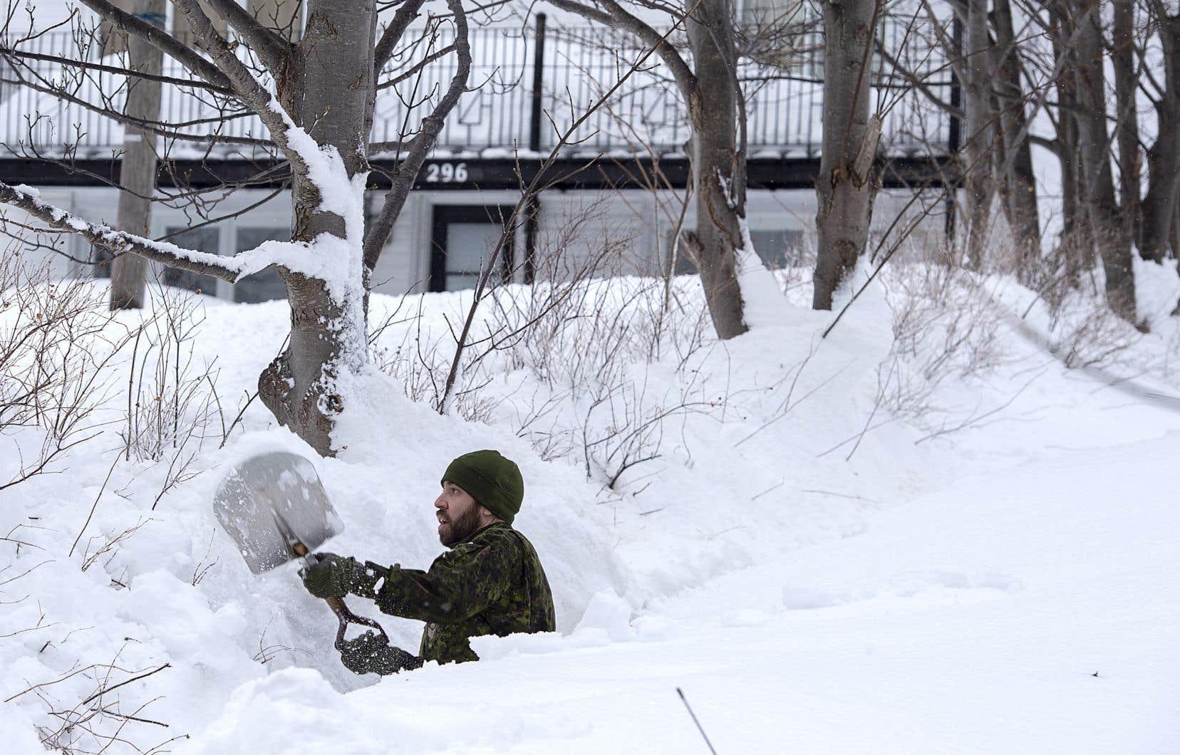 <p>450 soldats — dont environ 175 réservistes — sont à Terre-Neuve pour aider la province à se remettre de la tempête.</p>
