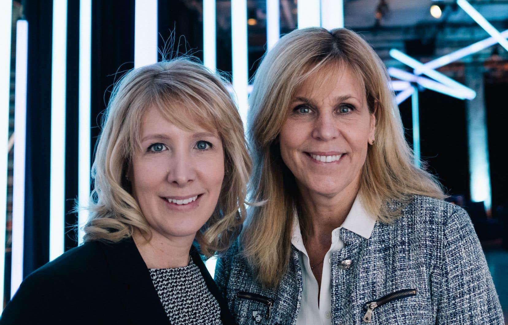 La présidente de Bell Média au Québec, Karine Moses (à gauche), et la vice-présidente à la programmation de langue française,Suzane Landry