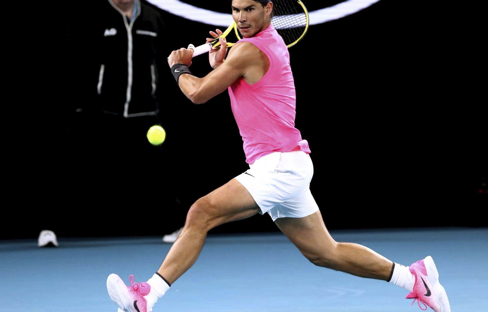 Rafael Nadala défait l'Argentin Federico Delbonis 6-3, 7-6 (4) et 6-1.