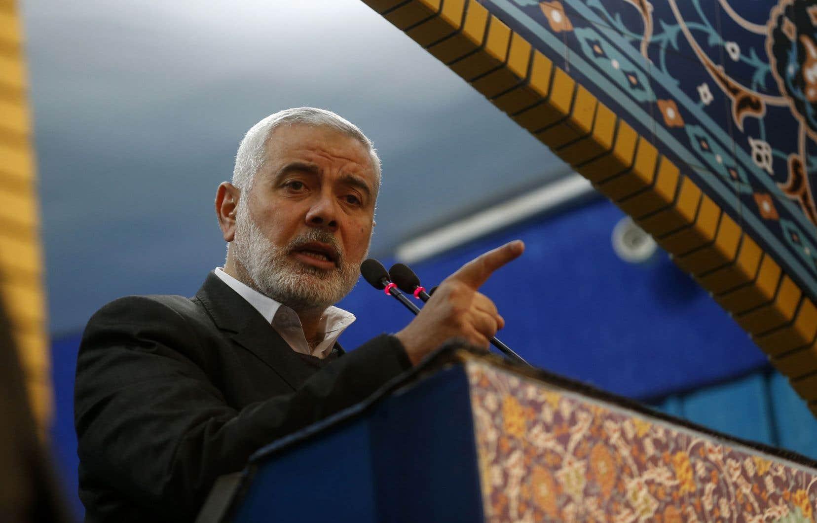 Ismaïl Haniyeh, chef du mouvement islamiste Hamas, au pouvoir dans la bande de Gaza, a appelé les autres «factions palestiniennes» à une réunion rapide auCaire, en Égypte, pour coordonner leur réponse au plan américain de paix au Moyen-Orient.