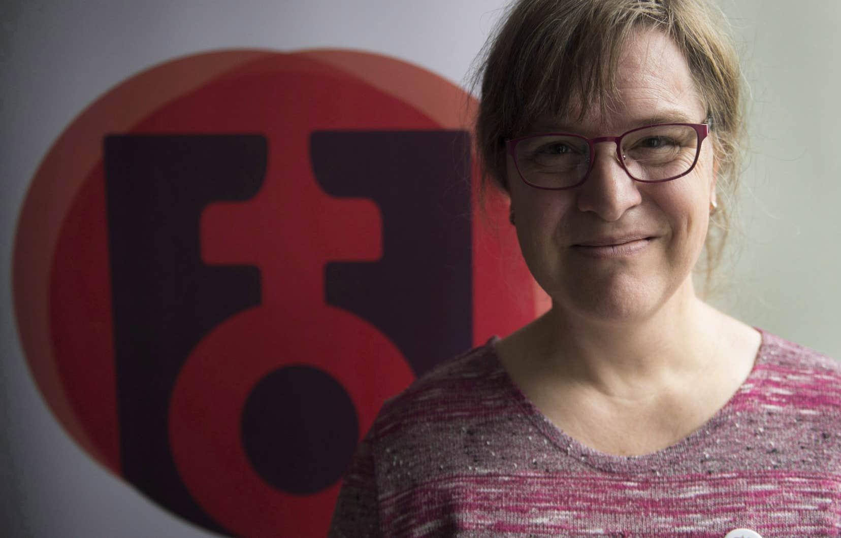 La présidente de la Fédération des femmes du Québec, Gabrielle Bouchard