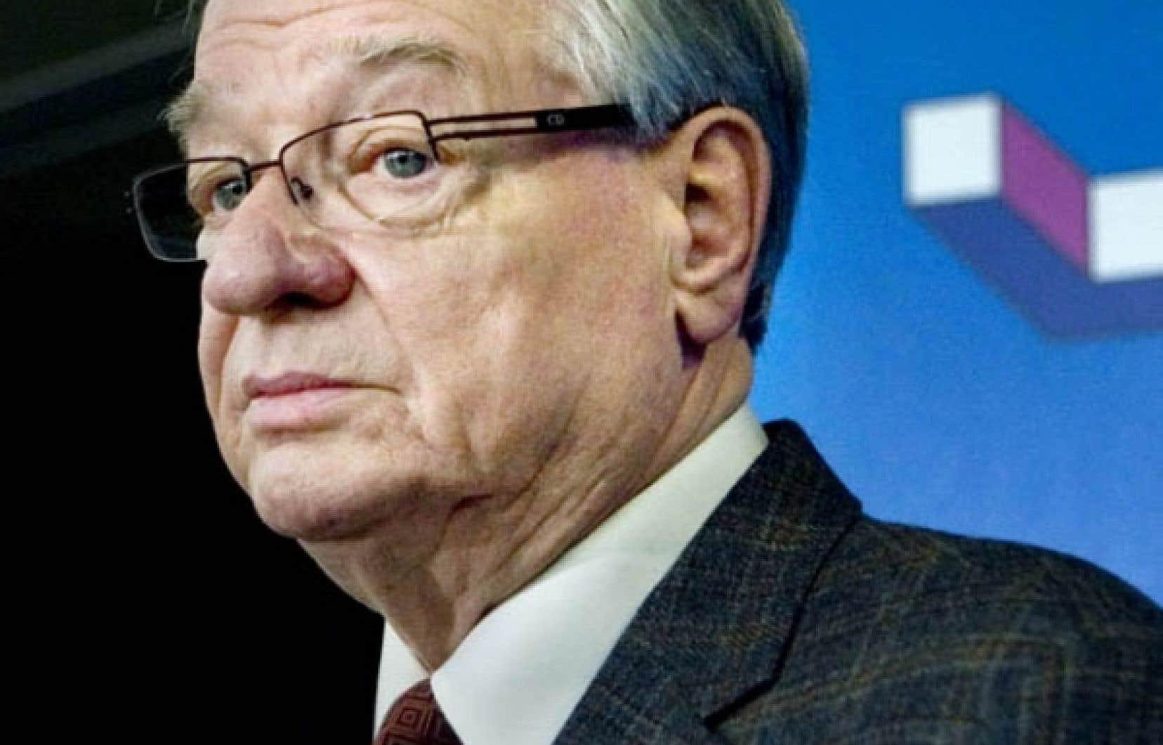 À l'hôtel de ville de Laval, hier, Gilles Vaillancourt a affirmé devant la presse n'avoir rien à se reprocher.