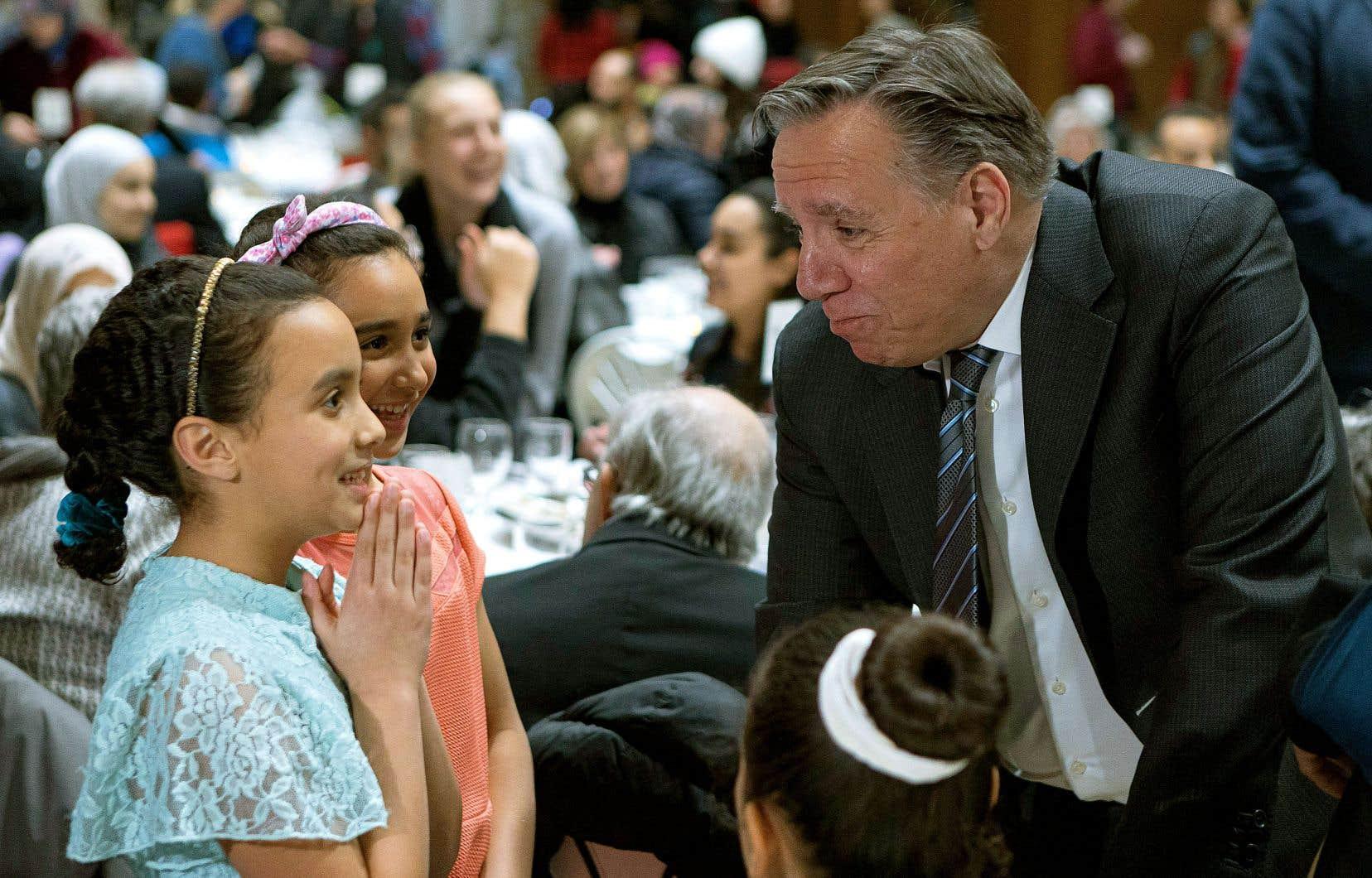 Le premier ministre François Legault était présent au souper communautaire organisé pour commémorer l'attentat contre les fidèles qui fréquentaient la Grande Mosquée de Québec.