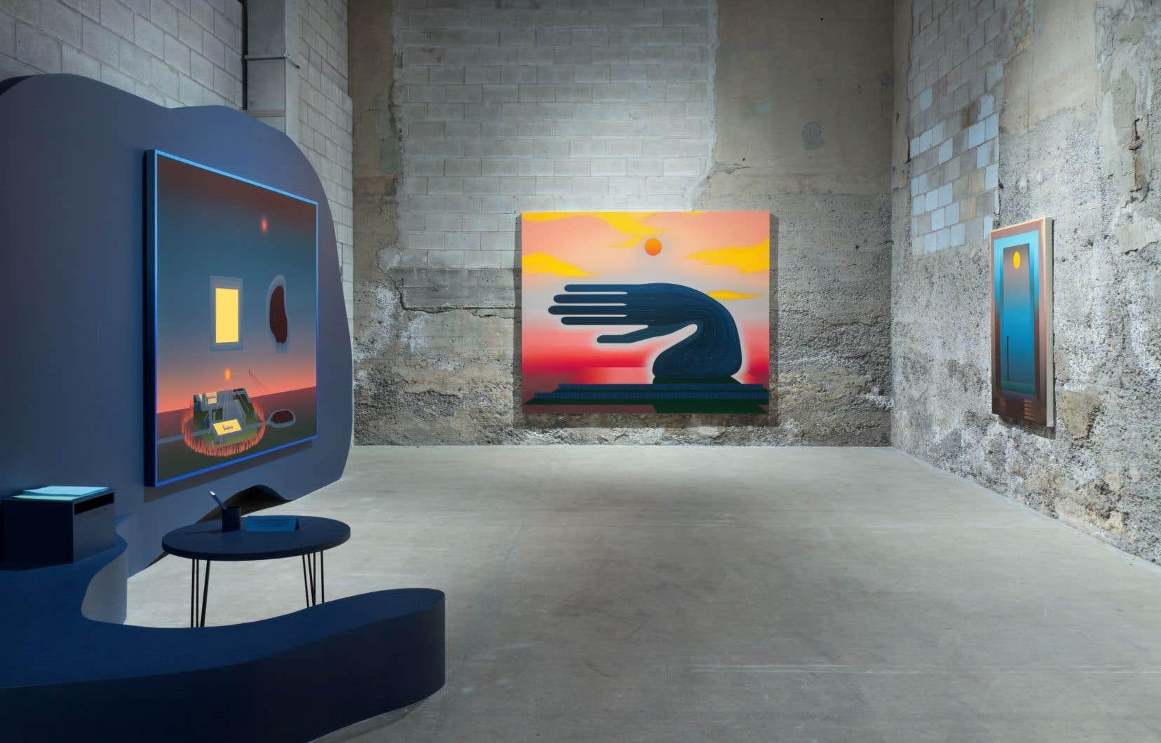 Vue de l'exposition «Positions», de Nicolas Grenier, à la galerie Bradley Ertaskiran