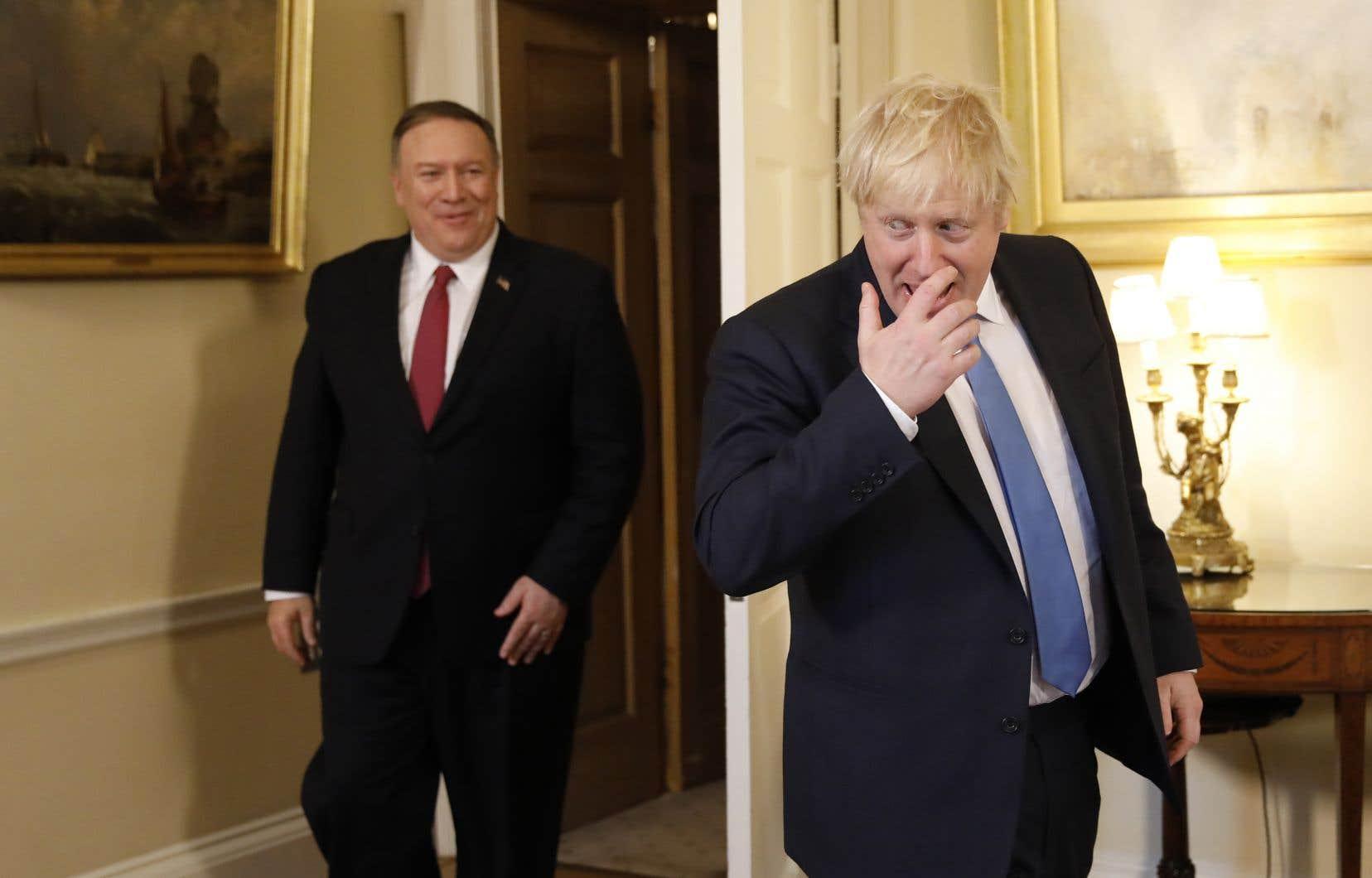 Le secrétaire d'État américain, Mike Pompeo, a été reçu à la résidence du premier ministre britannique, Boris Johnson, jeudi, à Londres.