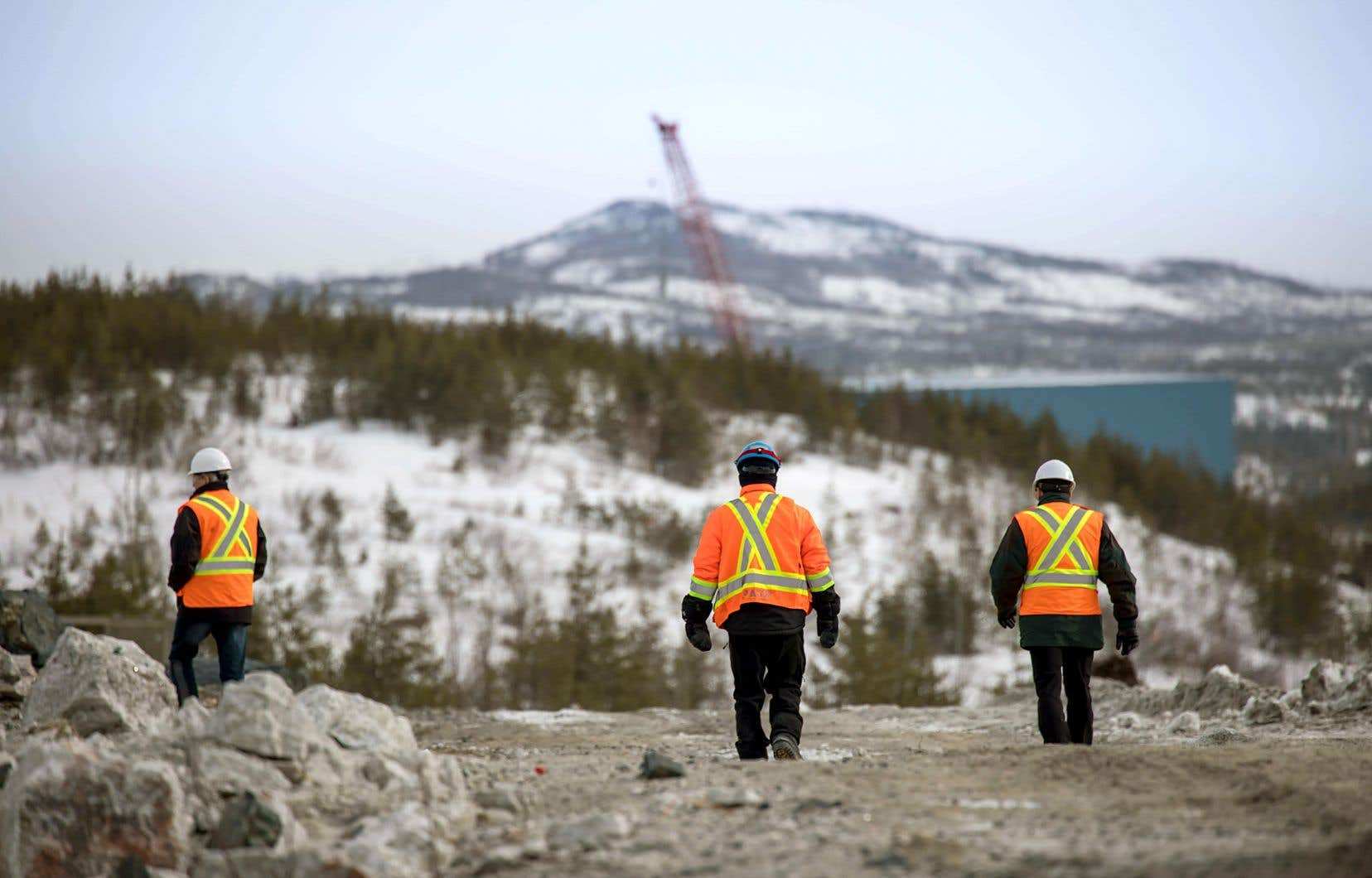 À l'heure actuelle, la construction de la mine de Nemaska Lithium à la Baie-James (sur la photo) est achevée à 52%, comparativement à 4% pour l'usine de traitement électrochimique à Shawinigan.
