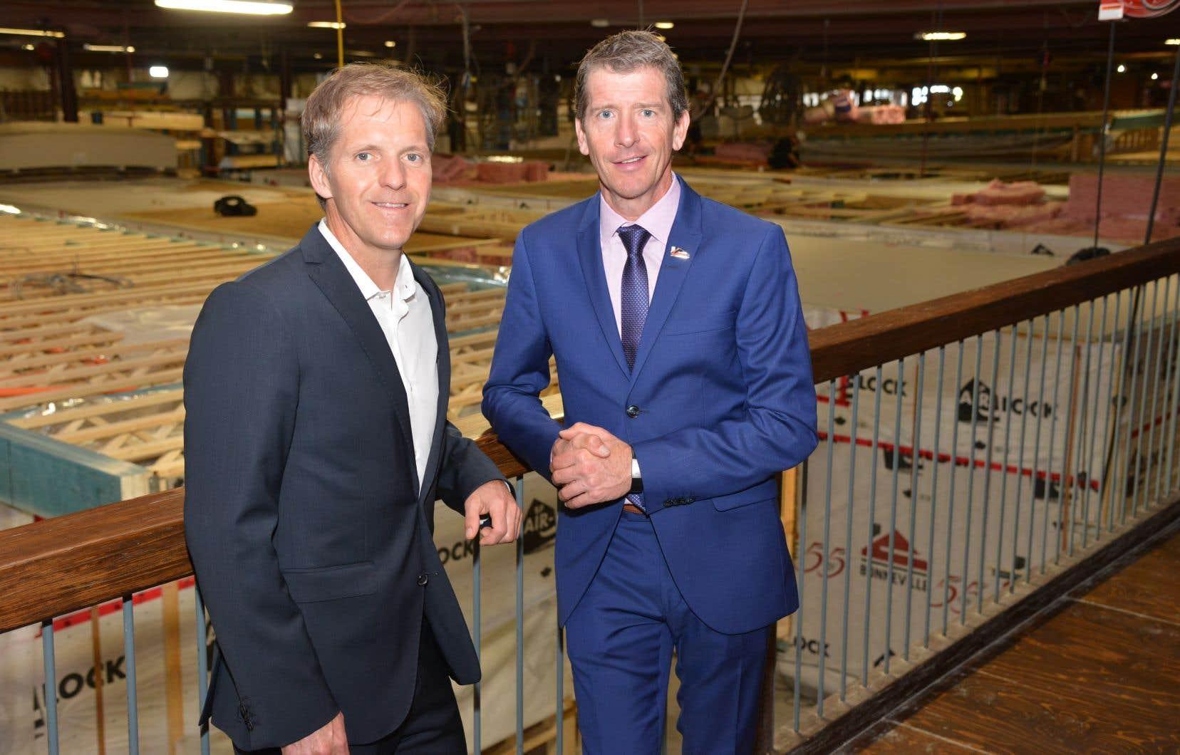 Eric et Dany Bonneville, coprésidents actuels des Industries Bonneville.