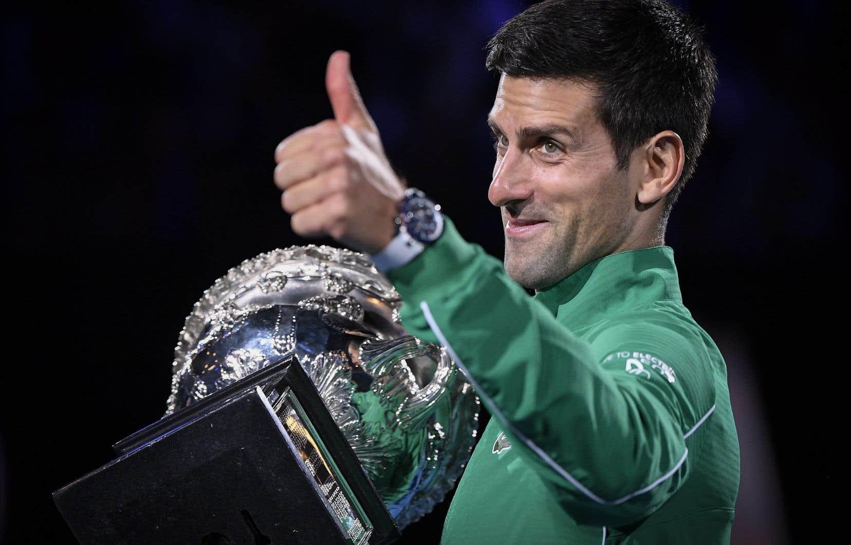 Novak Djokovic a remporté dimanche son 8eOpen d'Australie.