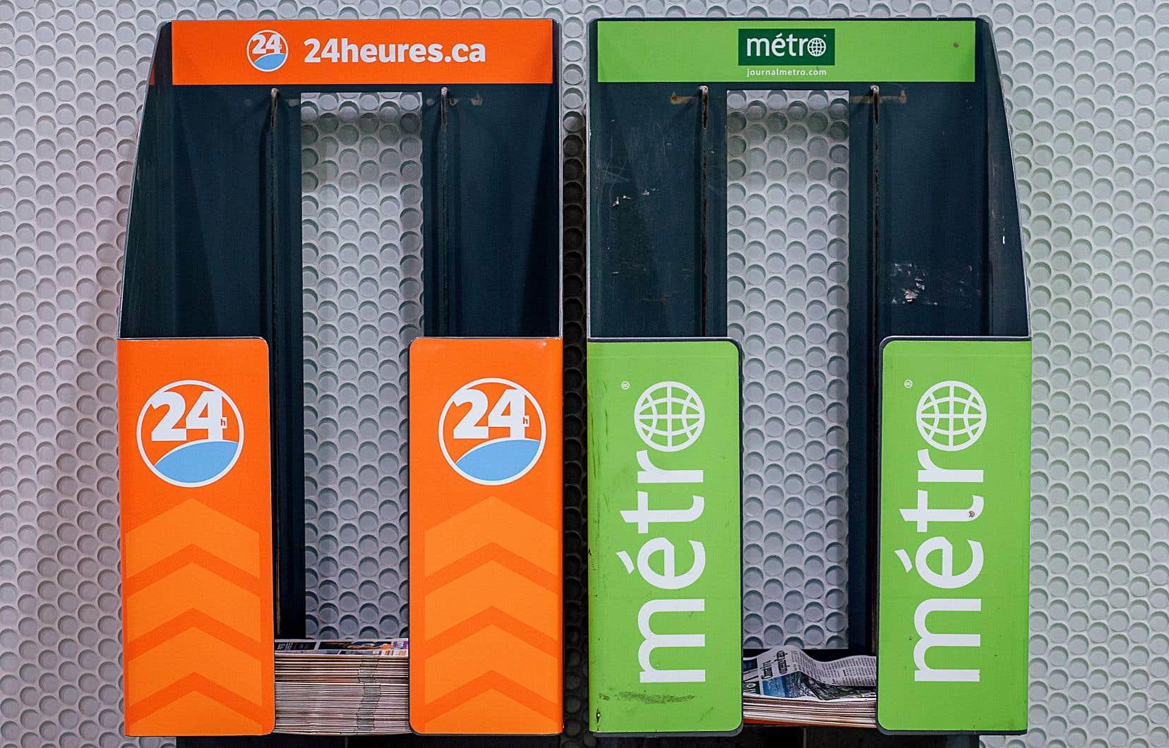 Les quotidiens 24Heures et Métro seront distribués dans 160 présentoirs du métro.