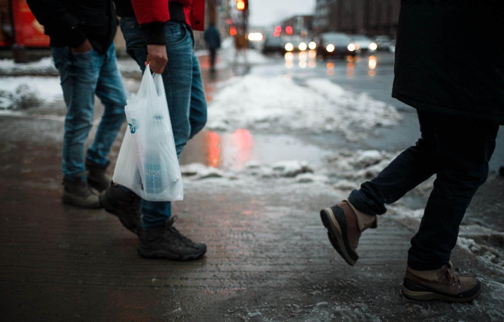 Depuis janvier 2018, les sacs de plastique d'une épaisseur inférieure à 50 microns ainsi que les sacs oxodégradables sont interdits à Montréal.