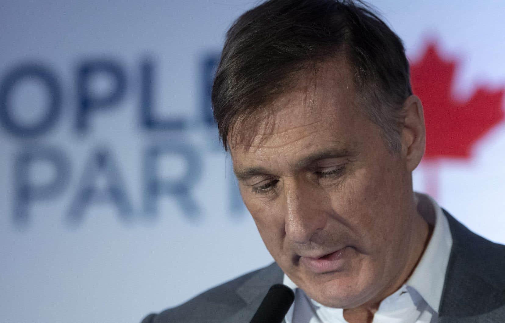 L'ex-député de Beauce et chef du Parti populaire du Canada, Maxime Bernier