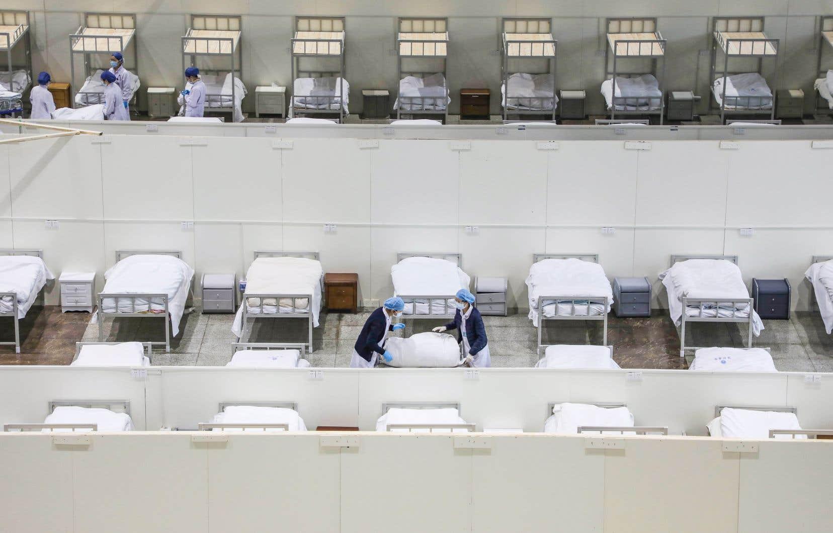L'hôpital central de Wuhan, en Chine, où est apparu le nouveau coronavirus en décembre dernier.