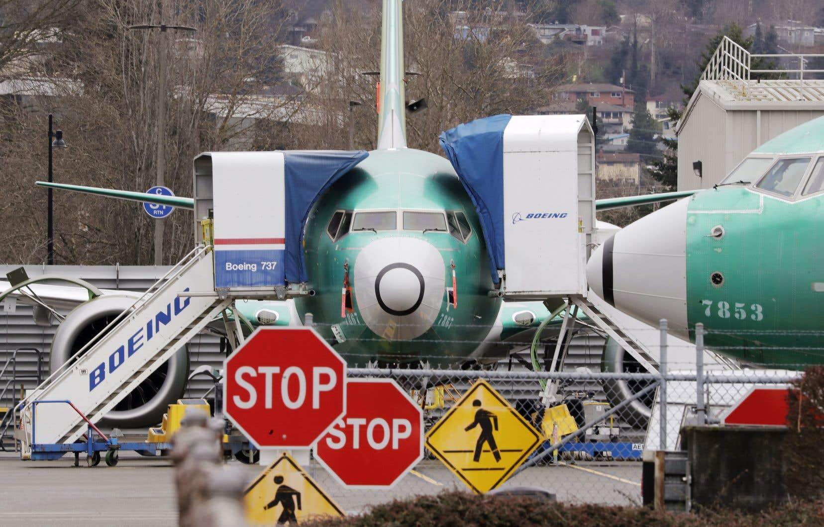 Les appareils 737 MAX sont cloués au sol depuis mars 2019.