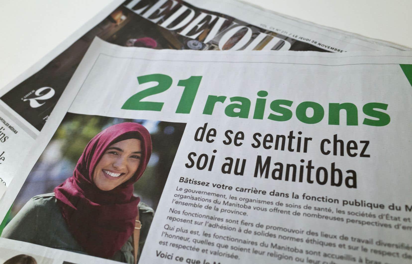La campagne manitobaine énumérait «21 raisons» pour lesquelles les fonctionnaires du Québec devraient envisager de déménager au Manitoba, où on les respecterait, quelle que soit leur religion ou leur culture.