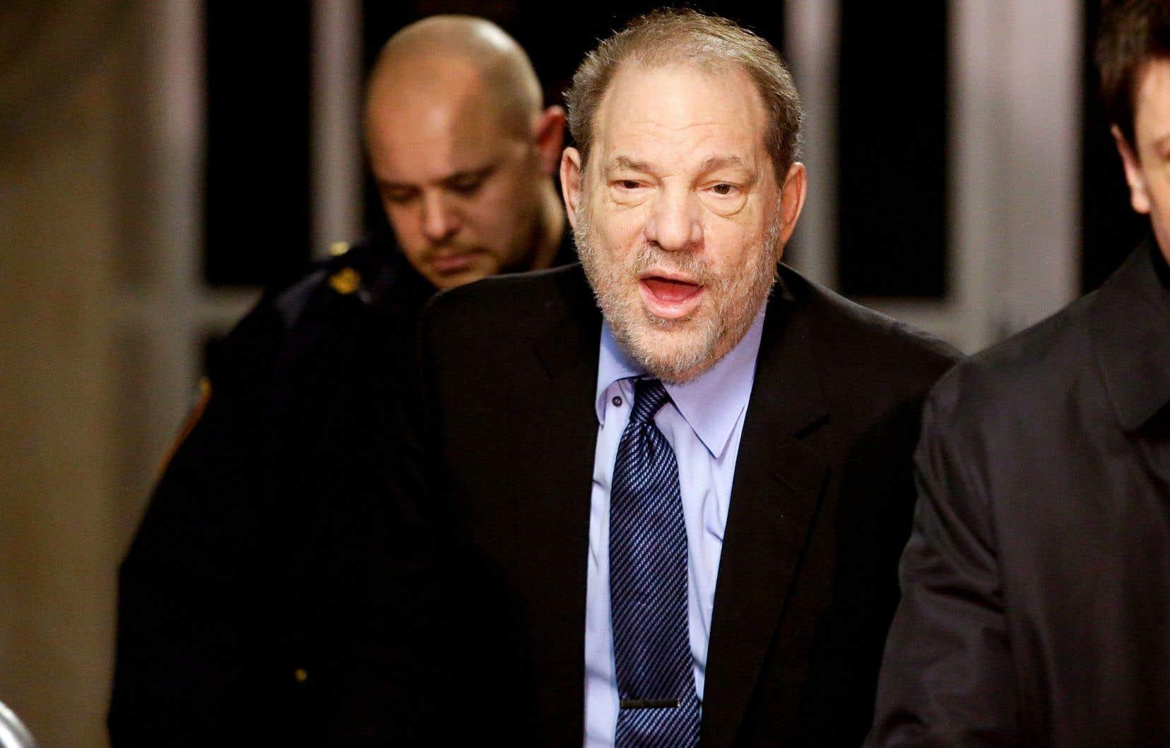 L'accusé, le producteur Harvey Weinstein, au tribunal de Manhattan, mardi