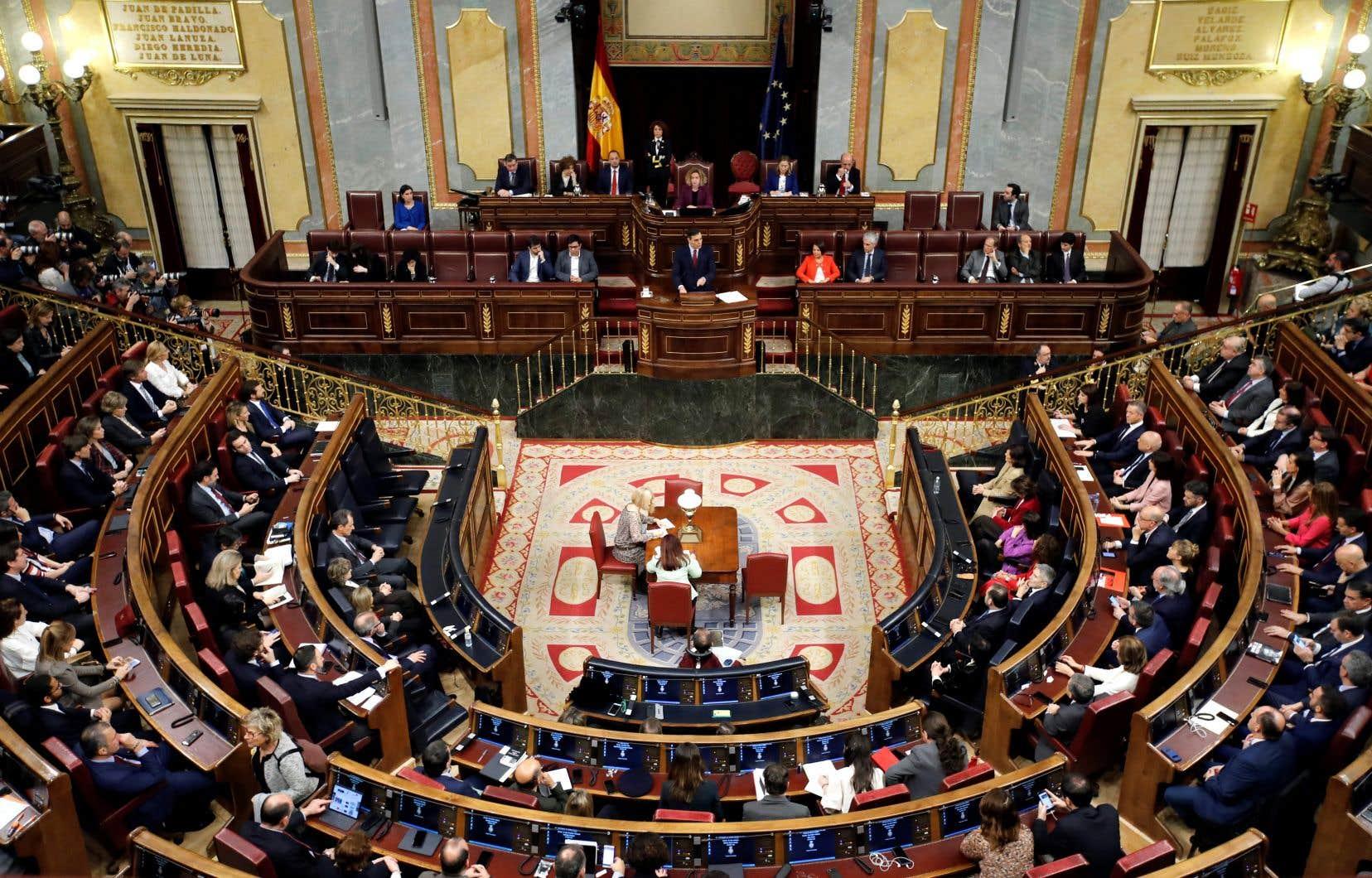 La Chambre des députés espagnols a approuvé le lancement du processus législatif par 203 voix.