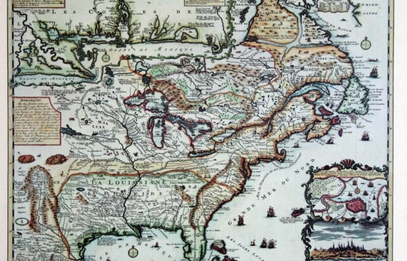Carte de la Nouvelle-France<br />