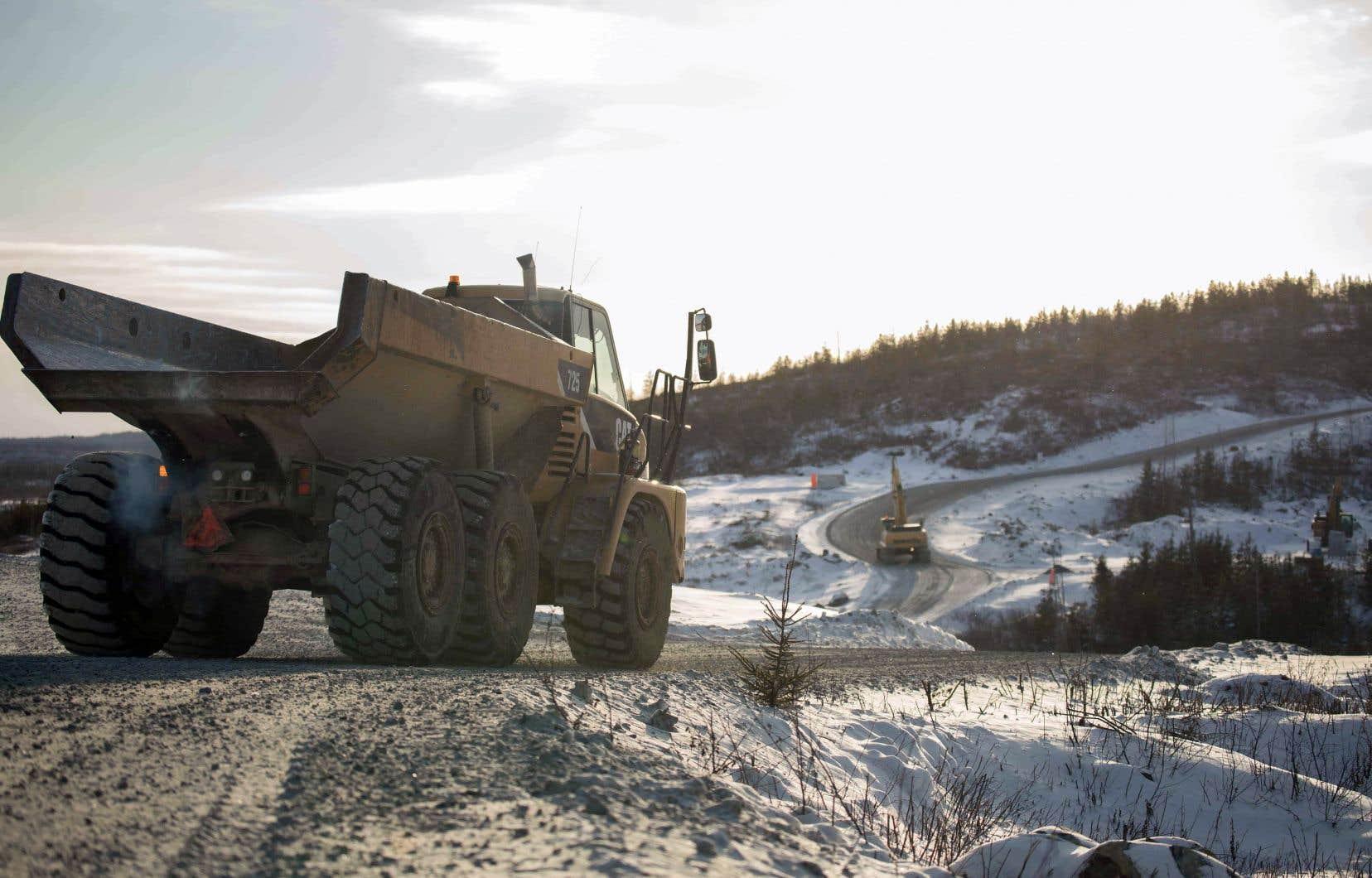 La demande pour des minéraux comme le lithium, le graphite, le cobalt et le nickel est appelée à exploser d'ici 2050, avec des hausses prévues variant entre 300% et 8000%. Sur la photo, le site où Nemaska Lithium compte bientôt exploiter la mine Whabouchi, à 300 km au nord de Chibougamau.