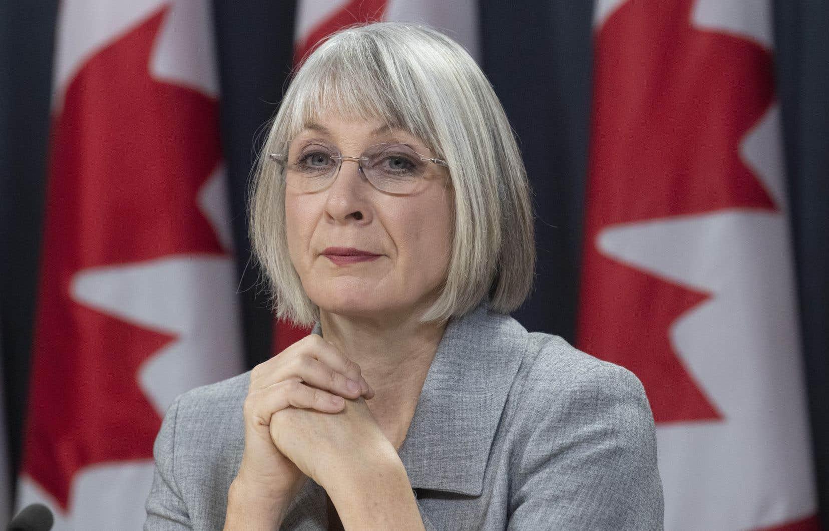 La ministre fédérale de la Santé, Patty Hajdu