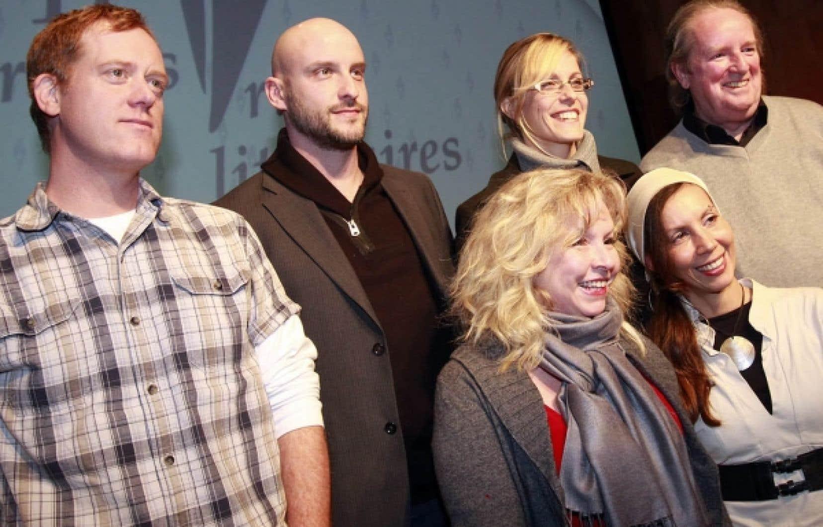 Les auteurs Marc Séguin, Martin Michaud, Marie-Renée Lavoie, Guy Martin, Geneviève Lefebvre et Bïa Krieger sont parmi les finalistes aux Grands Prix littéraires Archambault.<br />