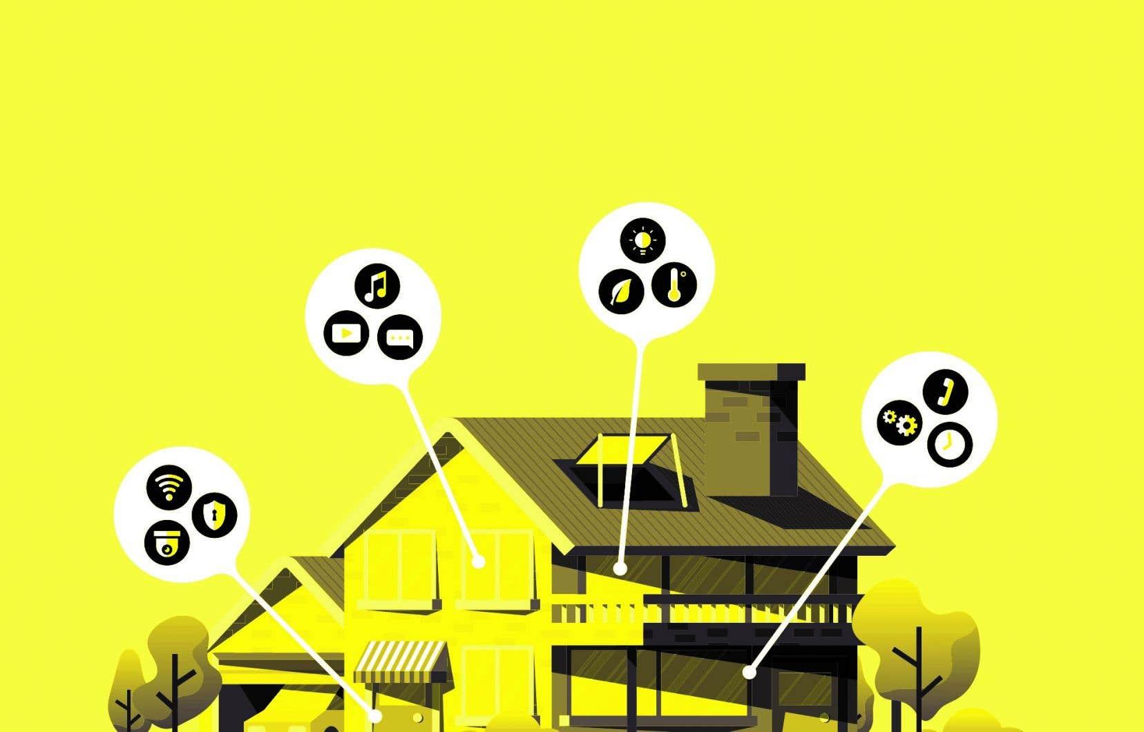 Grâce à des capteurs, la maison peut reconnaître et prédire quelques activités domestiques quotidiennes, afin de réduire la consommation d'énergie et de rendre les bâtiments sécuritaires.