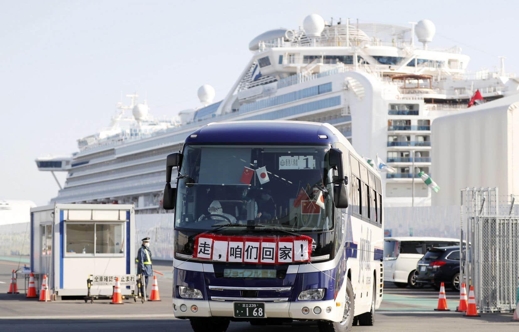 En tout, 256 Canadiensétaient passagers sur le navire de croisière «Diamond Princess».