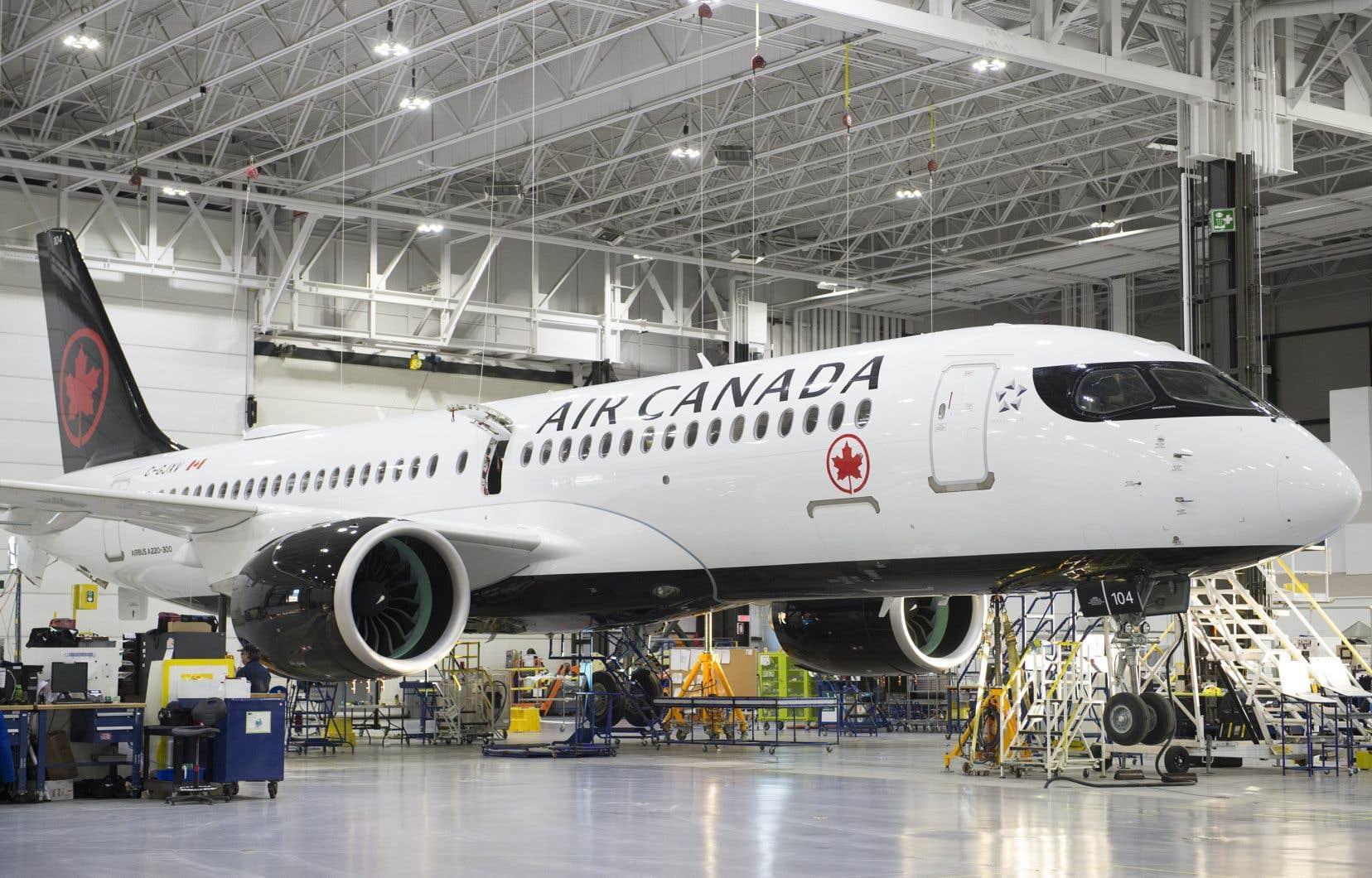 Avianor s'est vue confier le mandat d'entretien de la flotte d'A220 d'Air Canada à Mirabel.