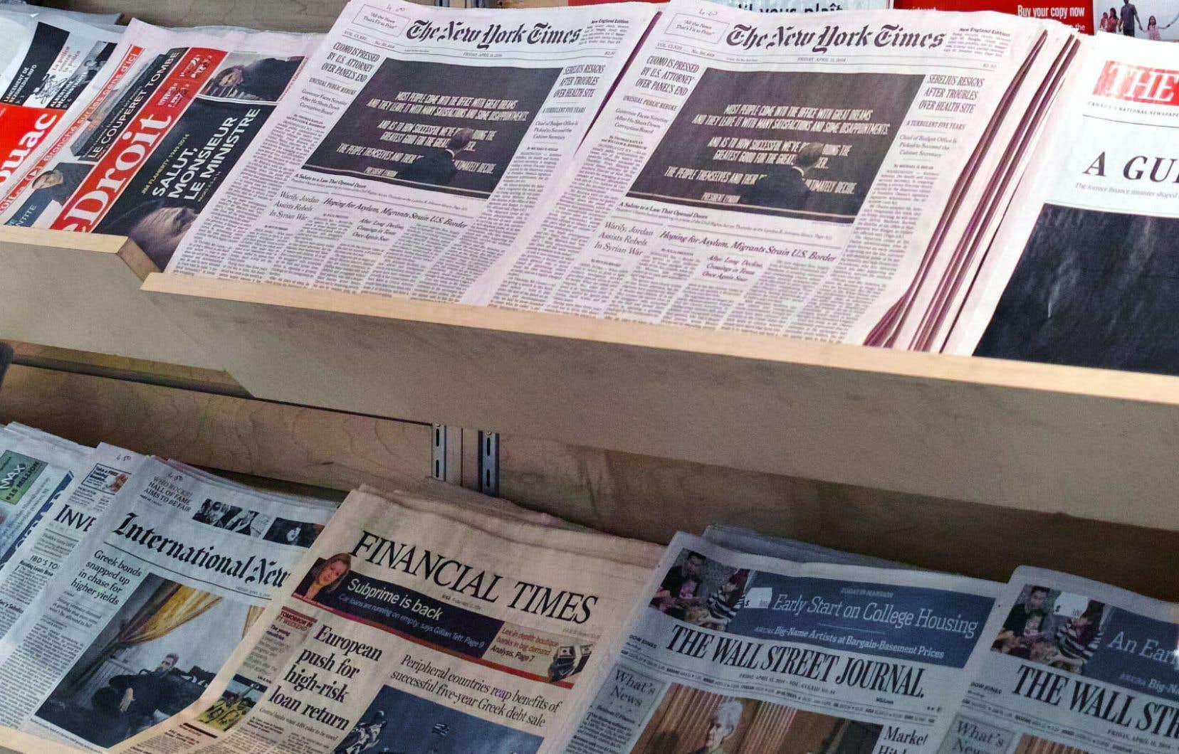 «Le chiffre d'affaires publicitaire des journaux américains est passé entre 2007 et 2018 de 50à 14milliards de dollars, une chute