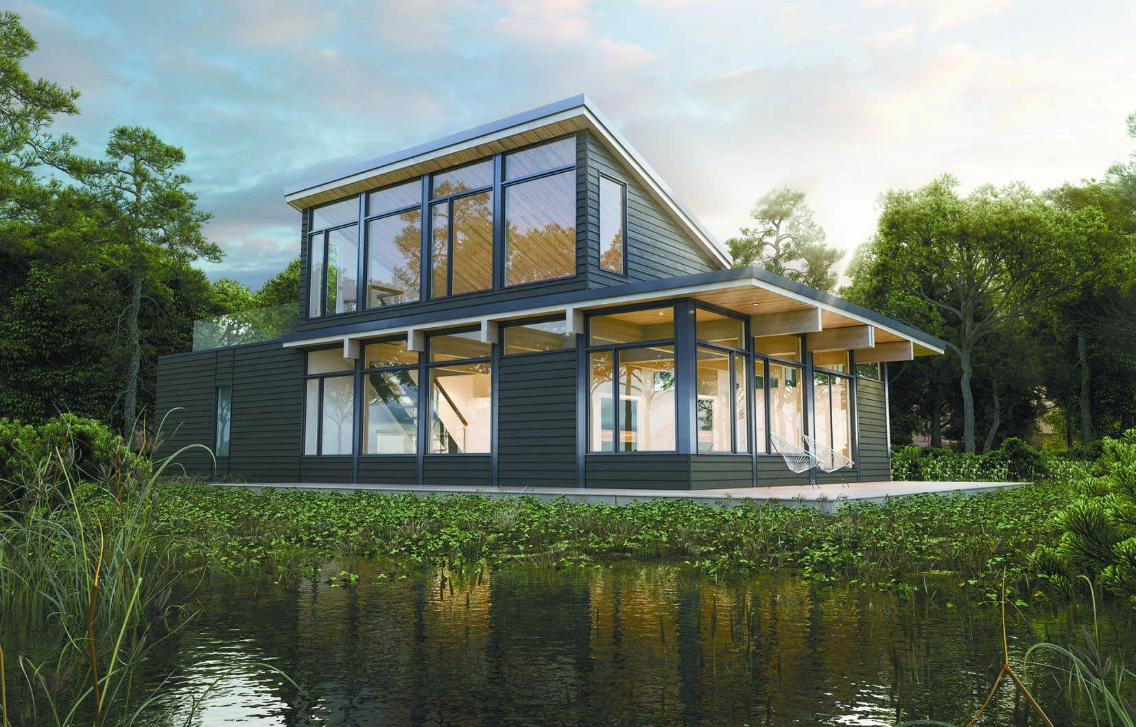 Avec ses hauts plafonds de bois de près de 10' se prolongeant vers l'extérieur et sesimpressionnantes fenêtres, la série Natur est maintenant indissociable du nom Bonneville.