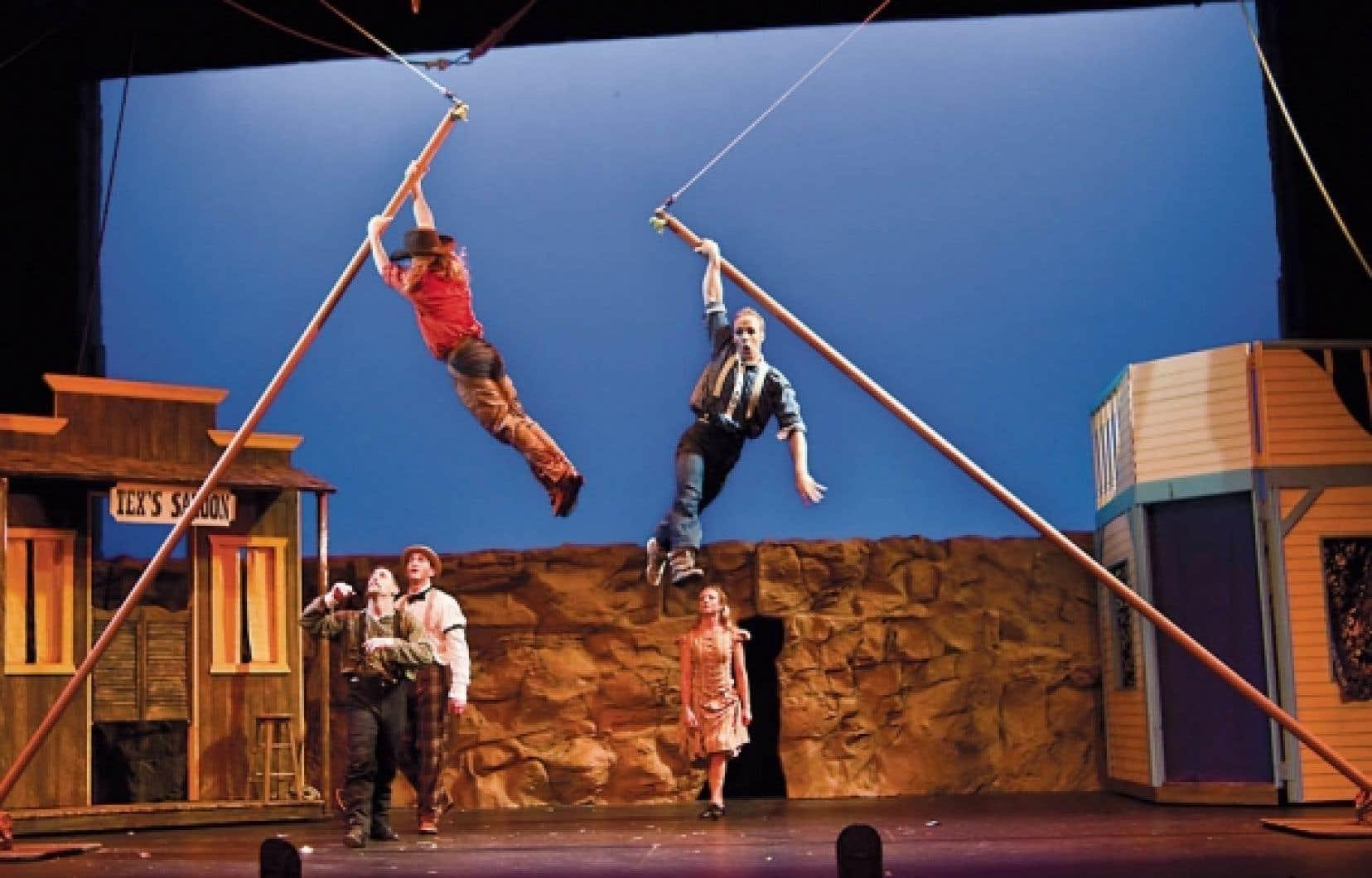 Le Cirque Mechanics, qui avait présenté <em>Birdhouse Factory</em> à La Tohu il y a deux ans. <br />