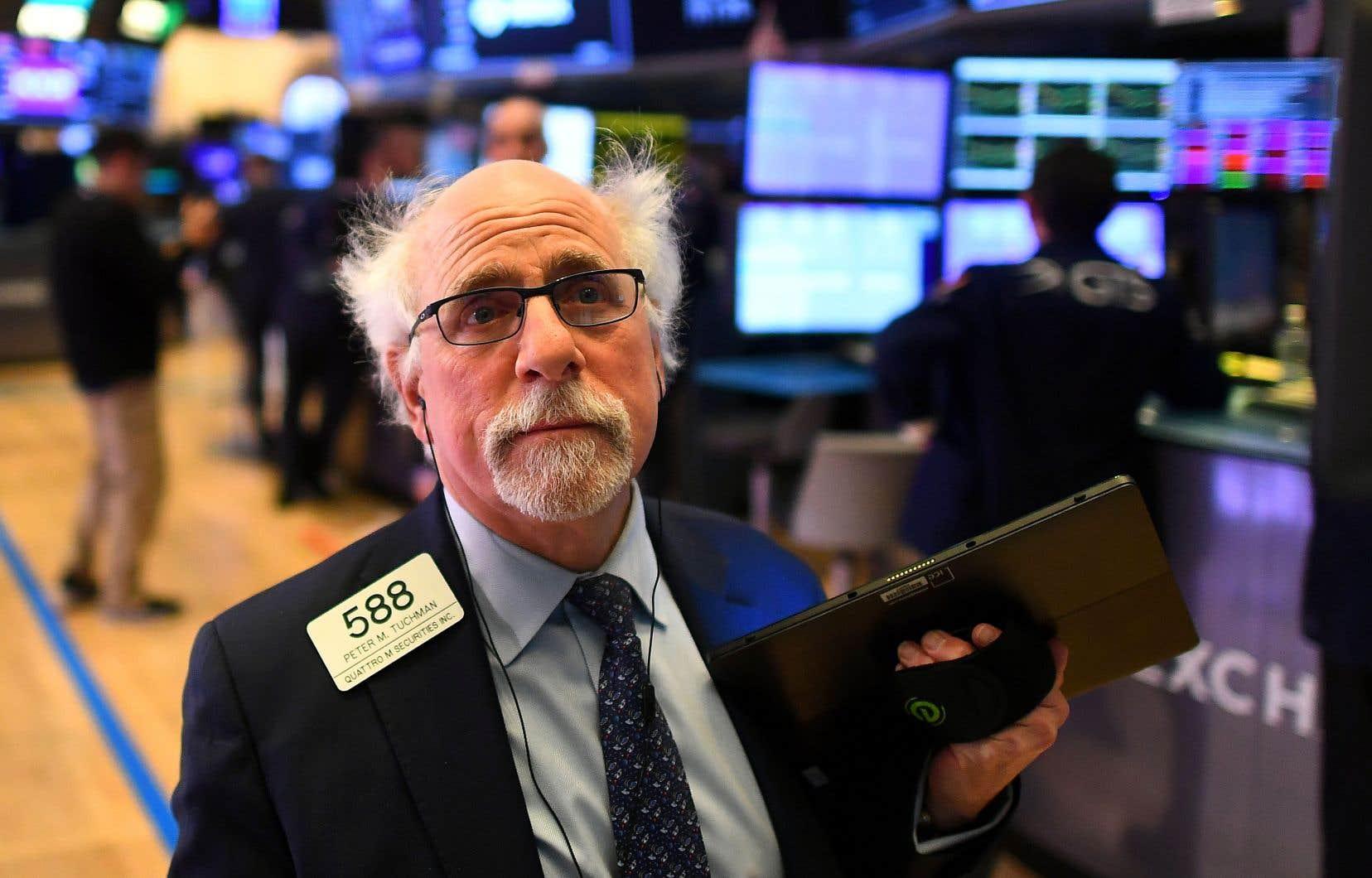 Wall Street cumule un recul de 7% depuis le début de la semaine.