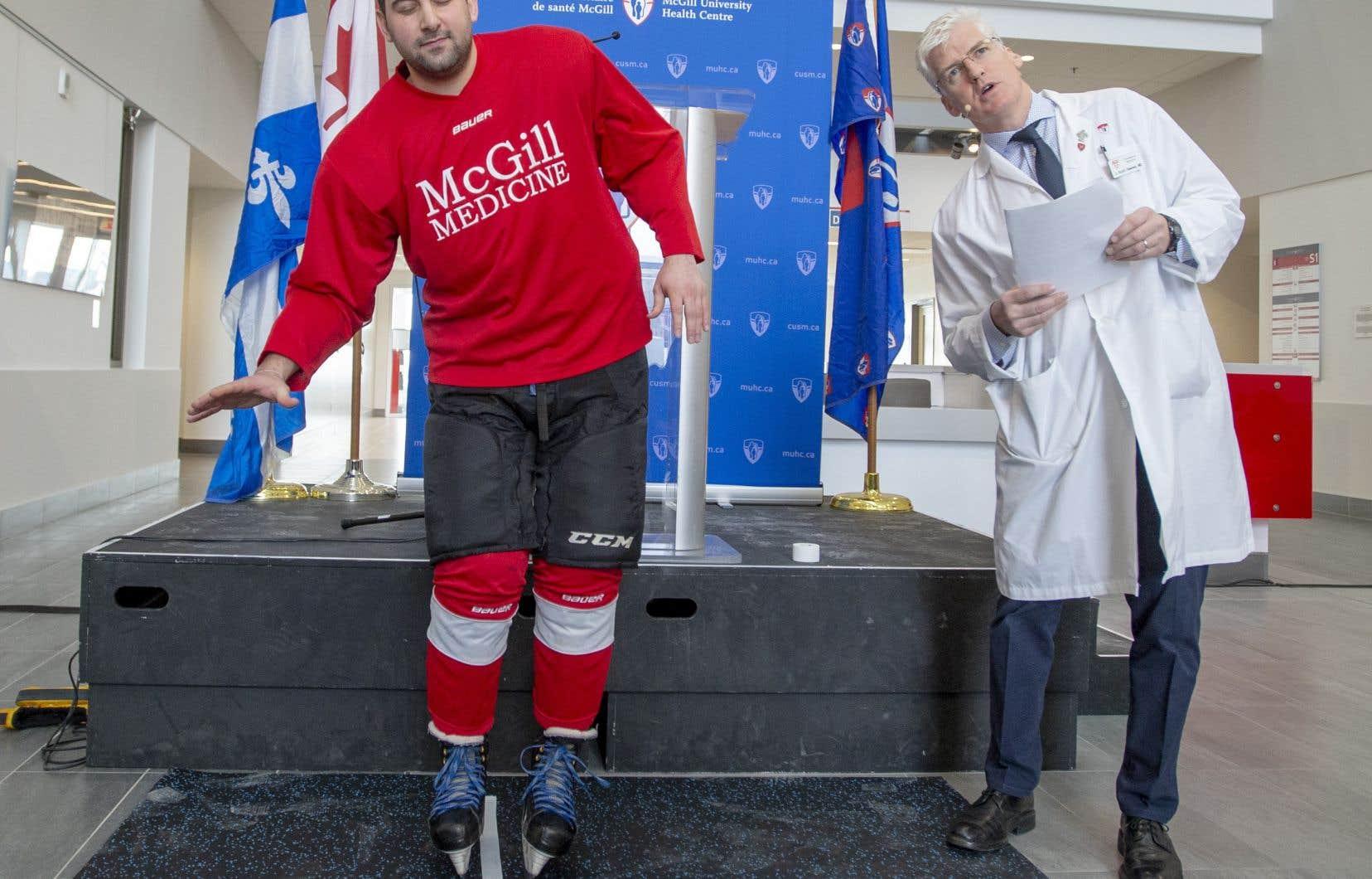 Une équipe de chercheurs, dirigée par le DrJ. Scott Delaney, adéveloppé une nouvelle technique qui pourrait servir à détecter la commotion d'un joueur avant que la partie de hockey ne soit terminée.