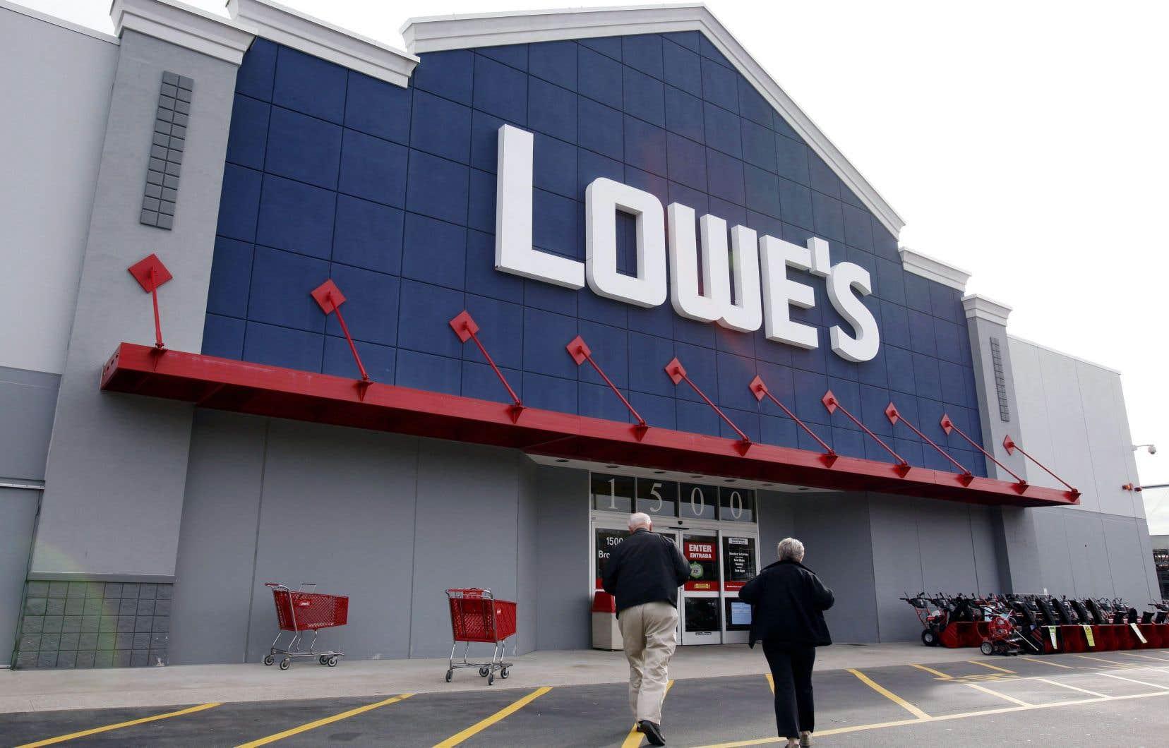 Au cours de la période de trois mois terminée le 31janvier, Lowe's a renoué avec la rentabilité en générant un bénéfice net de 509millions $US.