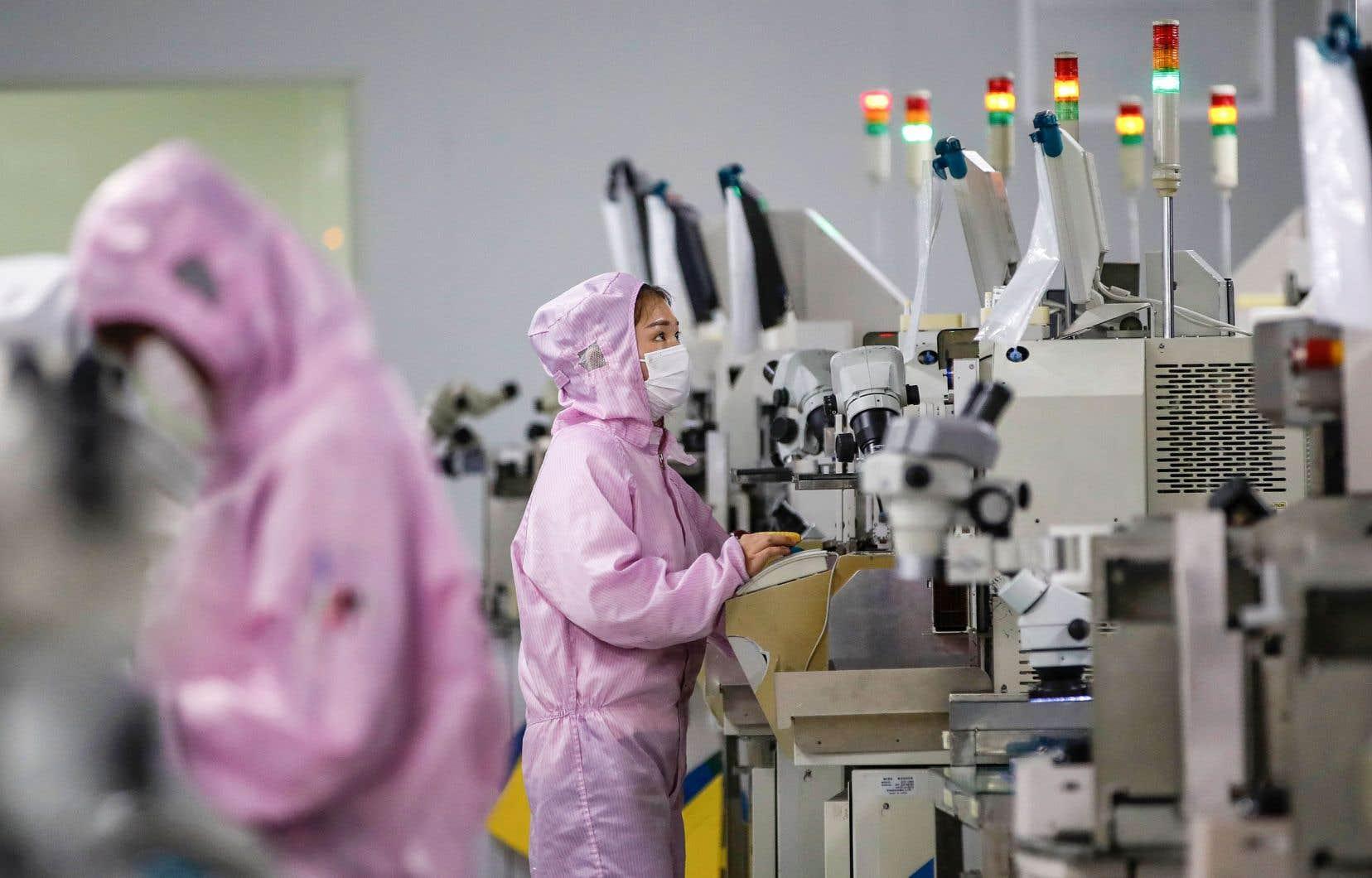 De nombreuses usines sont encore ralenties en Chine, notamment pour des raisons sanitaires.