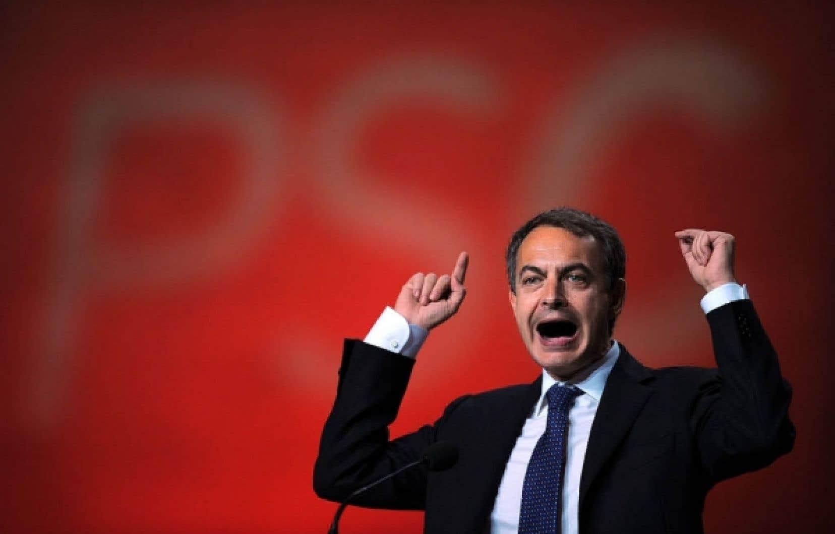 Le premier ministre espagnol José Luis Rodriguez Zapatero, vendredi dernier<br />