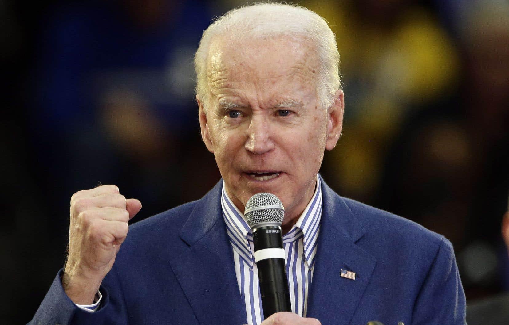 Cette victoire est la première de Joe Biden dans cette course à l'investiture du Parti démocrate.