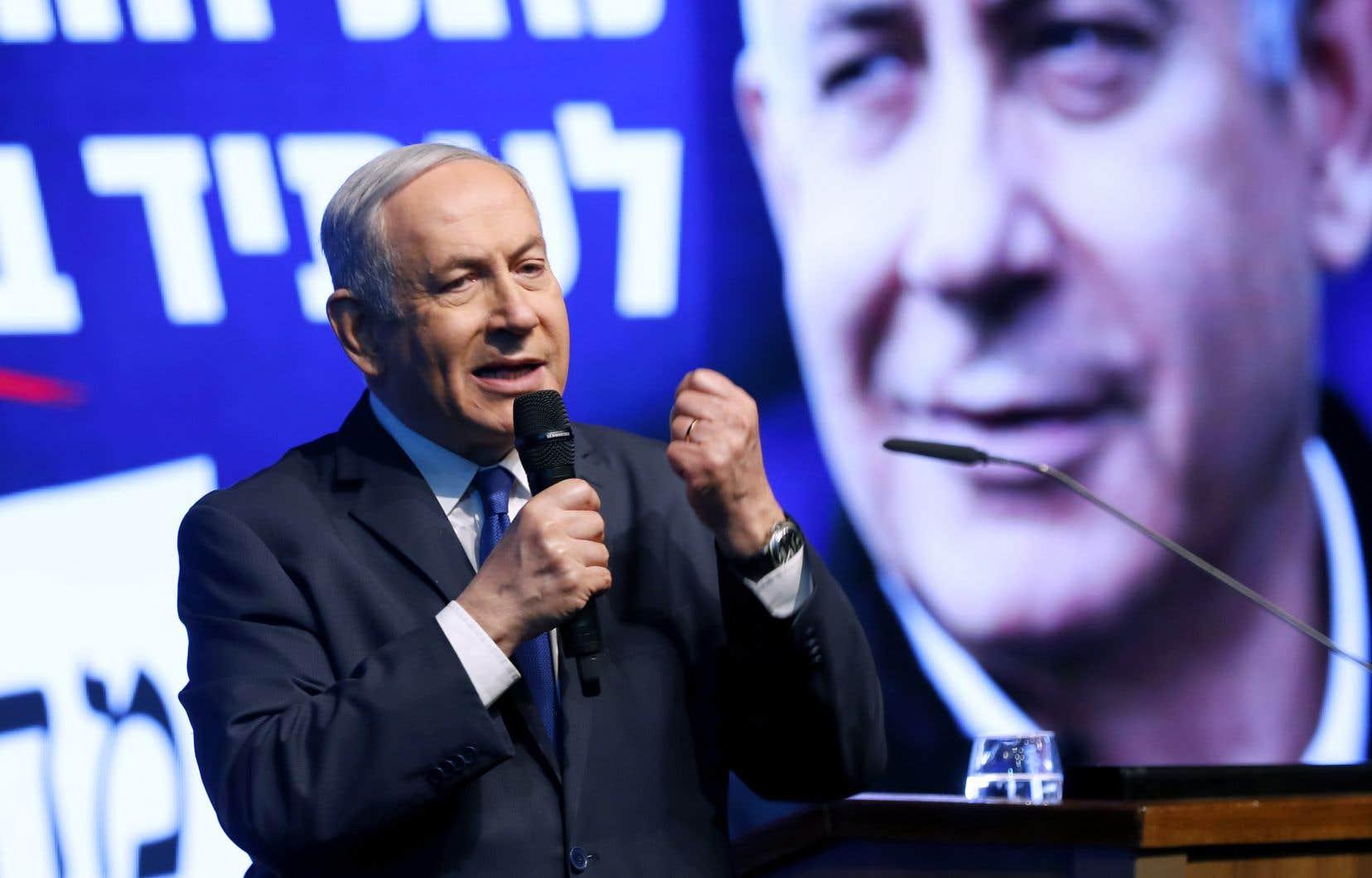 <p>M.Netanyahou, inculpé pour corruption dans une série d'affaires et dont le procès s'ouvre le 17mars, a fait de l'annexion de pans de la Cisjordanie, territoire palestinien occupé depuis 1967, sa priorité en cas de victoire.</p>