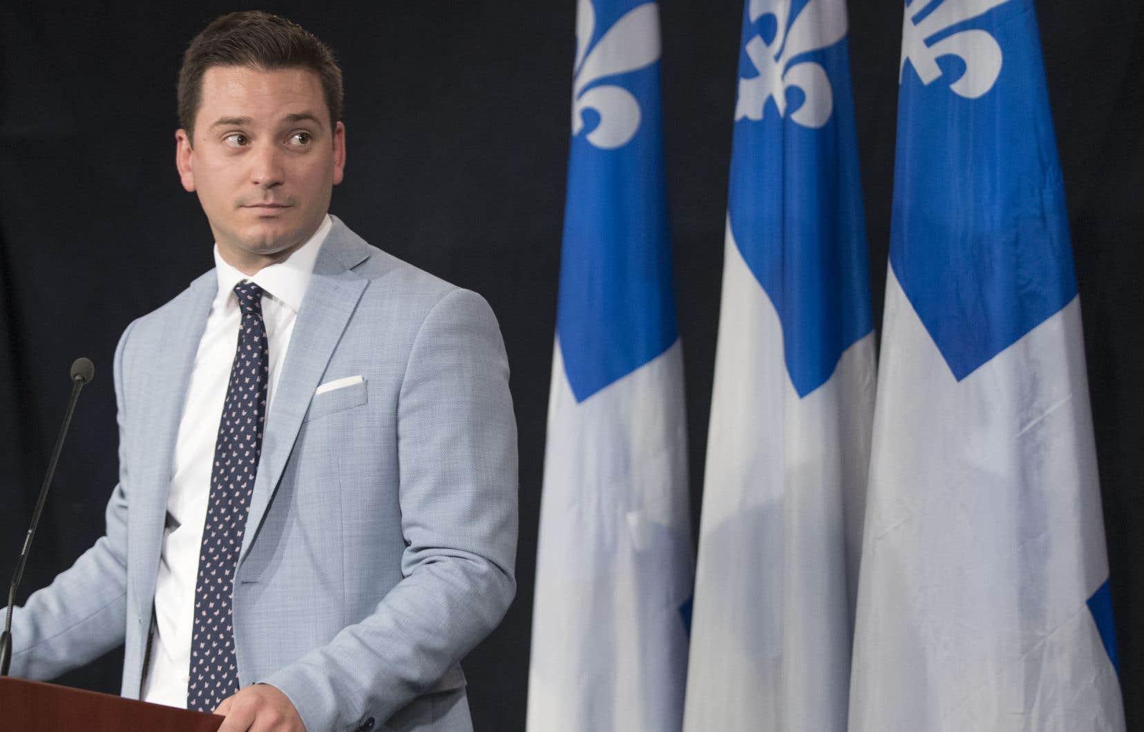 Leministre de l'Immigration, Simon Jolin-Barrette