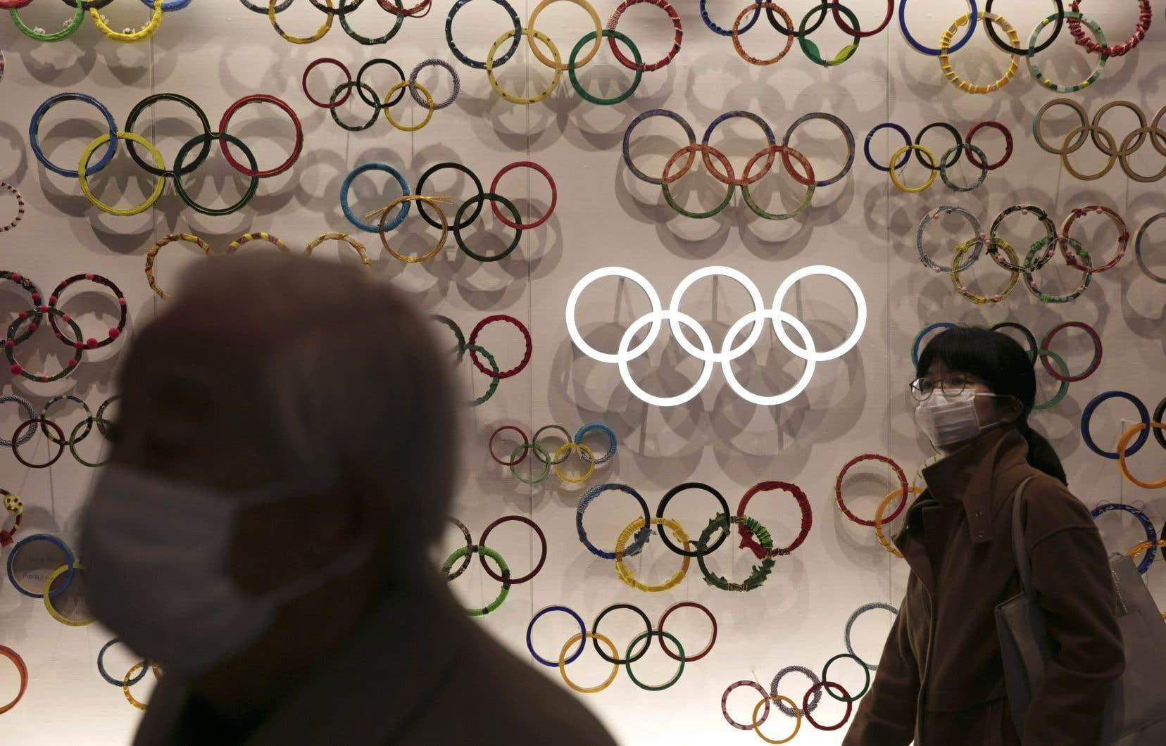 À un peu moins de cinq mois de la cérémonie d'ouverture de Tokyo 2020, le 24juillet, une visite prévue sur le site des Jeux a été annulée.
