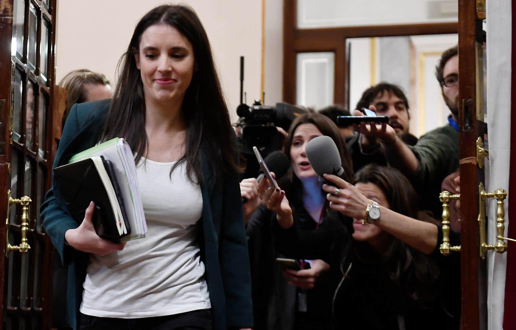 La ministre espagnole de l'Égalité, Irene Montero