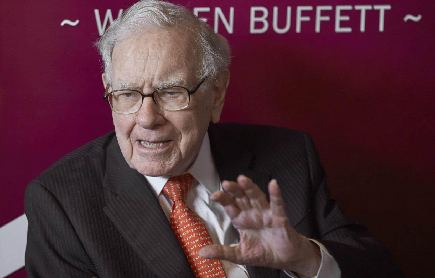 Le milliardaire américain Warren Buffett est propriétaire de la firme d'investissementBerkshire Hathaway.
