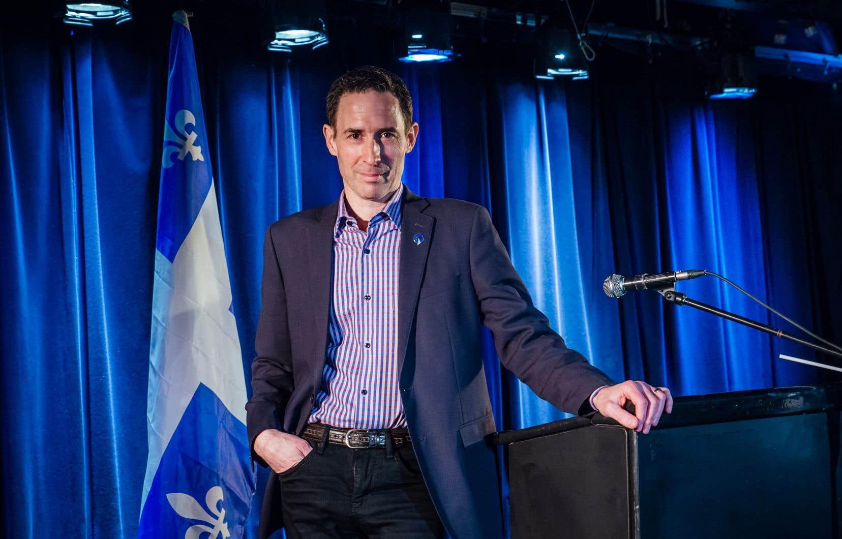 Le candidat à la chefferie du Parti québécois Frédéric Bastien
