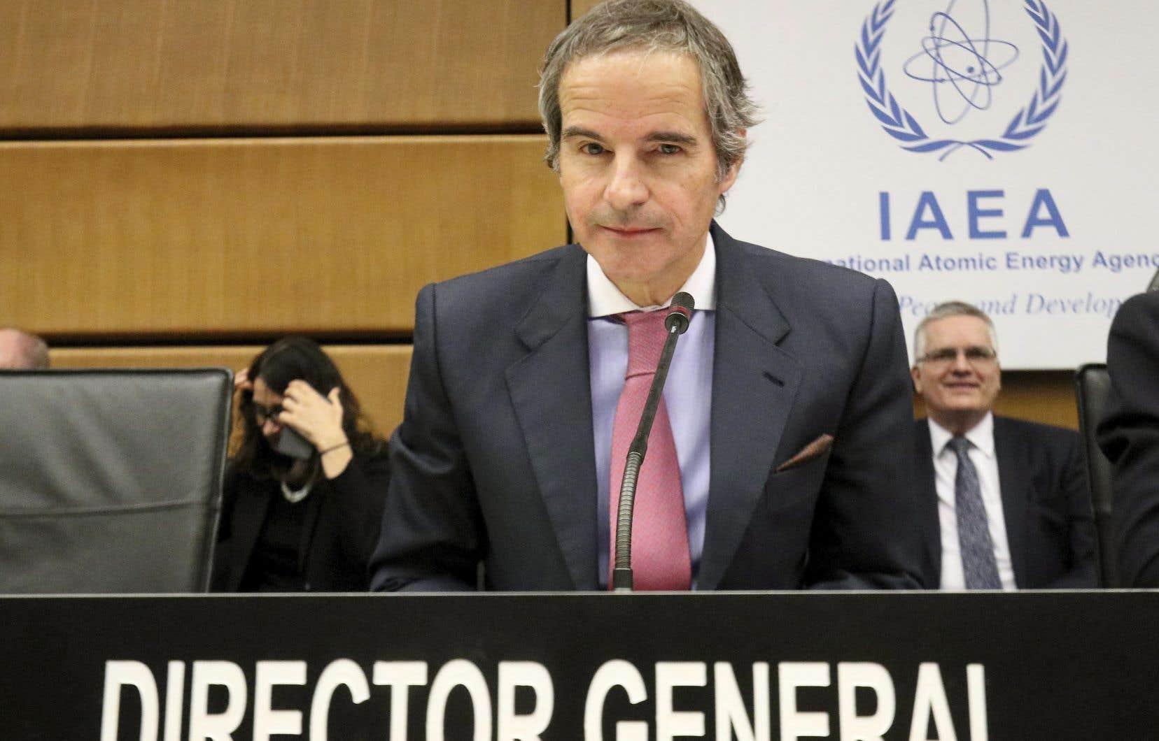 Le directeur général de l'Agence internationale de l'énergie atomique, Rafael Mariano Grossi