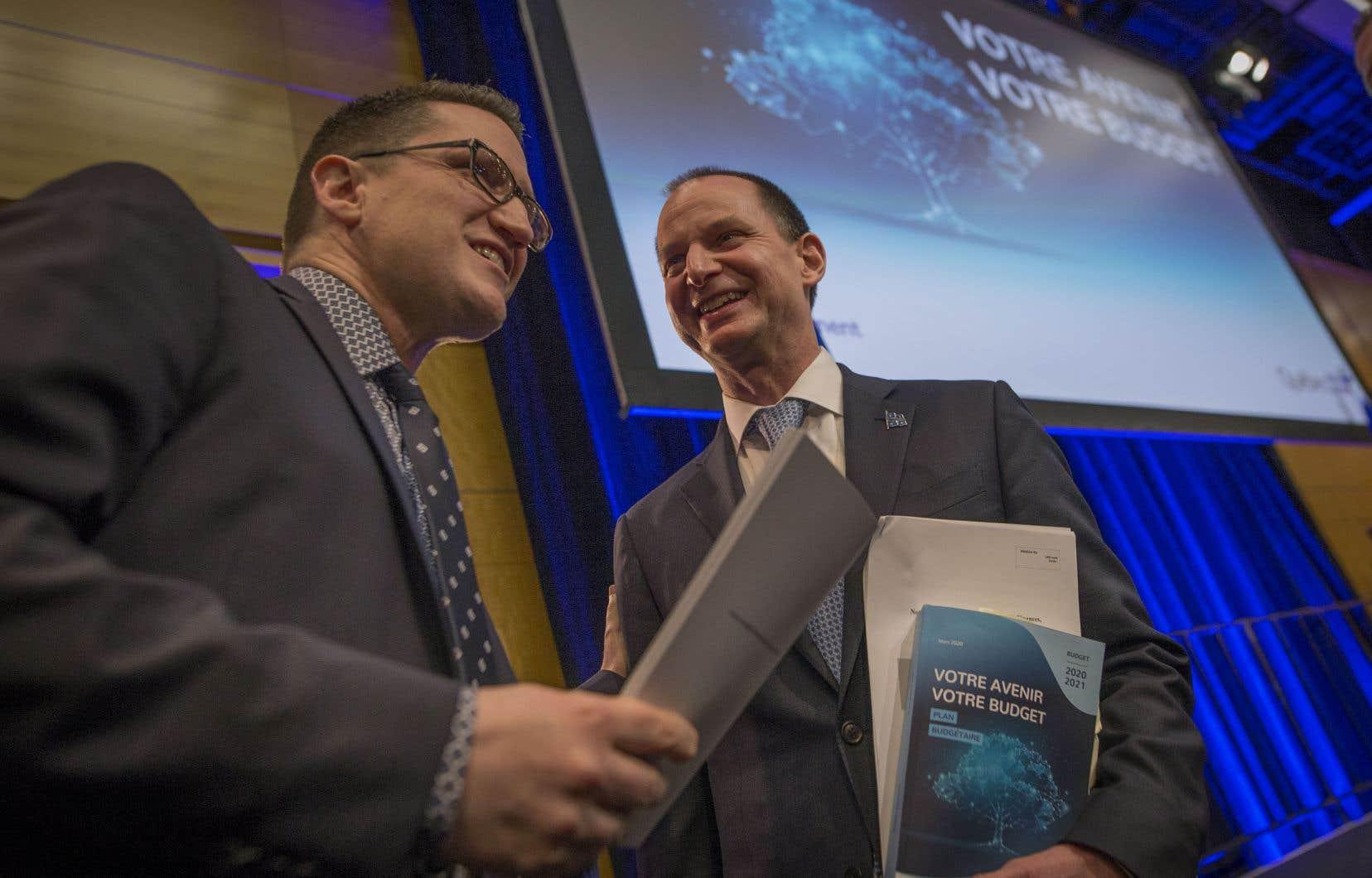Le plan du ministre Eric Girard mise sur l'équilibre budgétaire et l'environnement.
