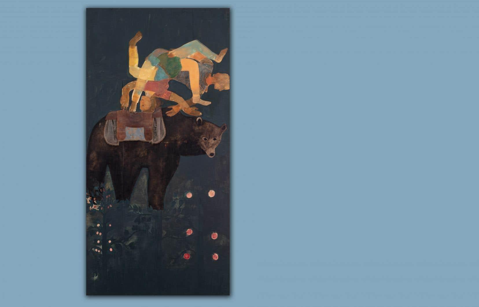 Détail de «La DonnaDelinquenta»(1987),du duo Fleming-Lapointe