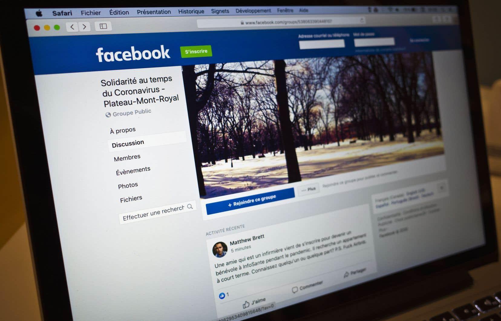 Chacun chez soi, la solidarité s'organise, une page Facebook à la fois.