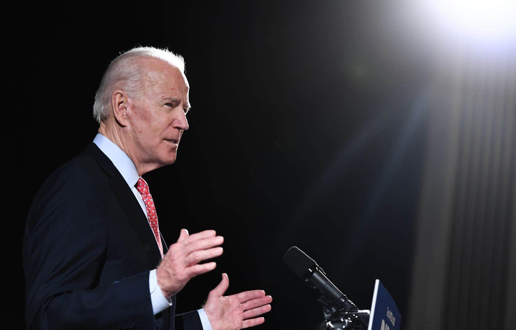 Dans un discours largement consacré à la crise du Covid-19, l'ancien vice-président américain, Joe Biden, a dit vouloir «rassembler le parti».