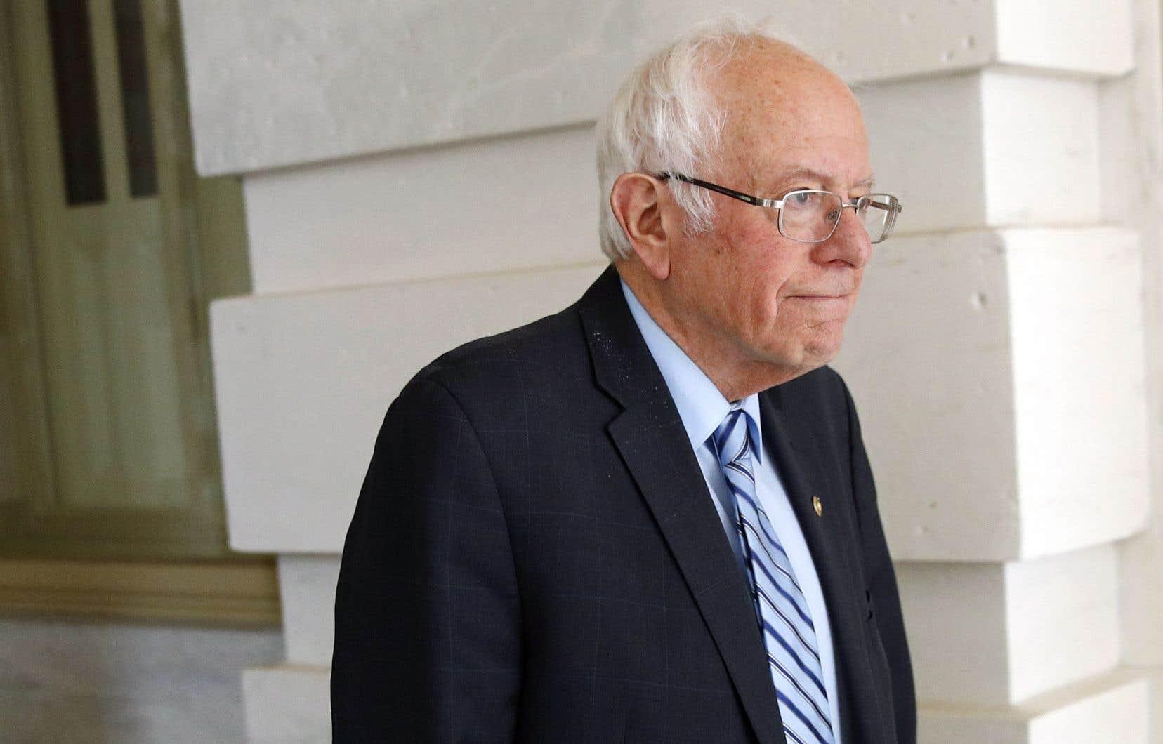 Bernie Sanders est sous pression depuis fin février, son rival Joe Biden enchaînant les victoires.