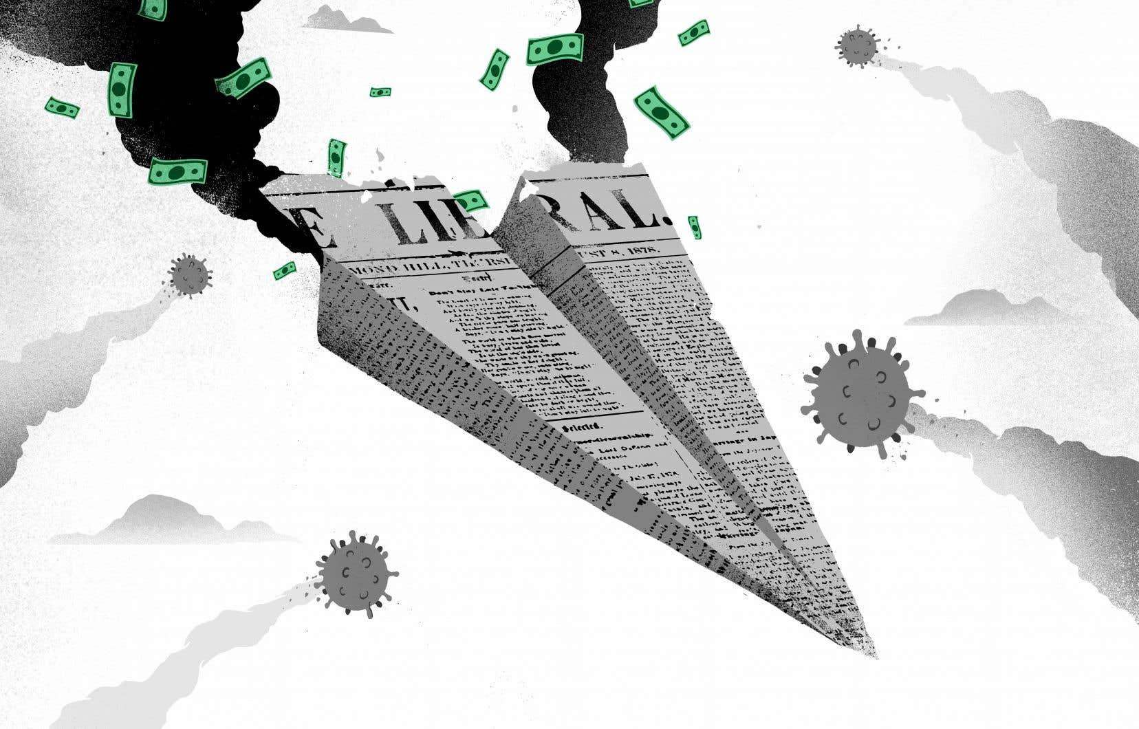 La presse quotidienne, gratuite ou non, est ébranlée par les chutes publicitaires causées par les mesures de contrôle de la COVID-19.