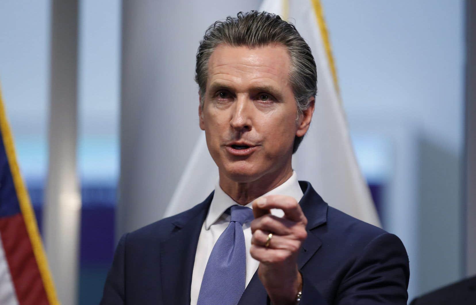 Le gouverneur de Californie, Gavin Newsom